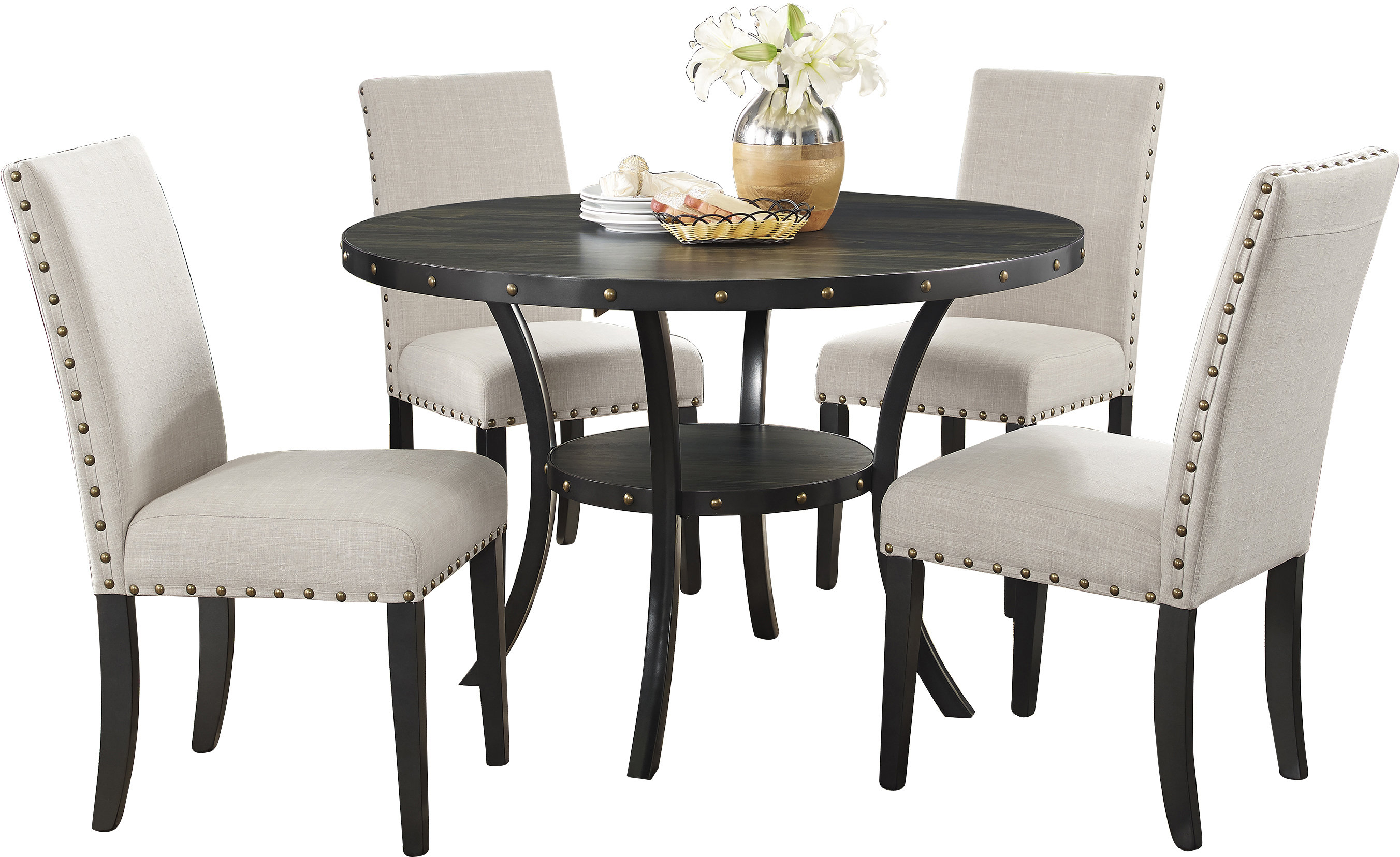 Amy 5 Piece Dining Set & Reviews (#3 of 20)