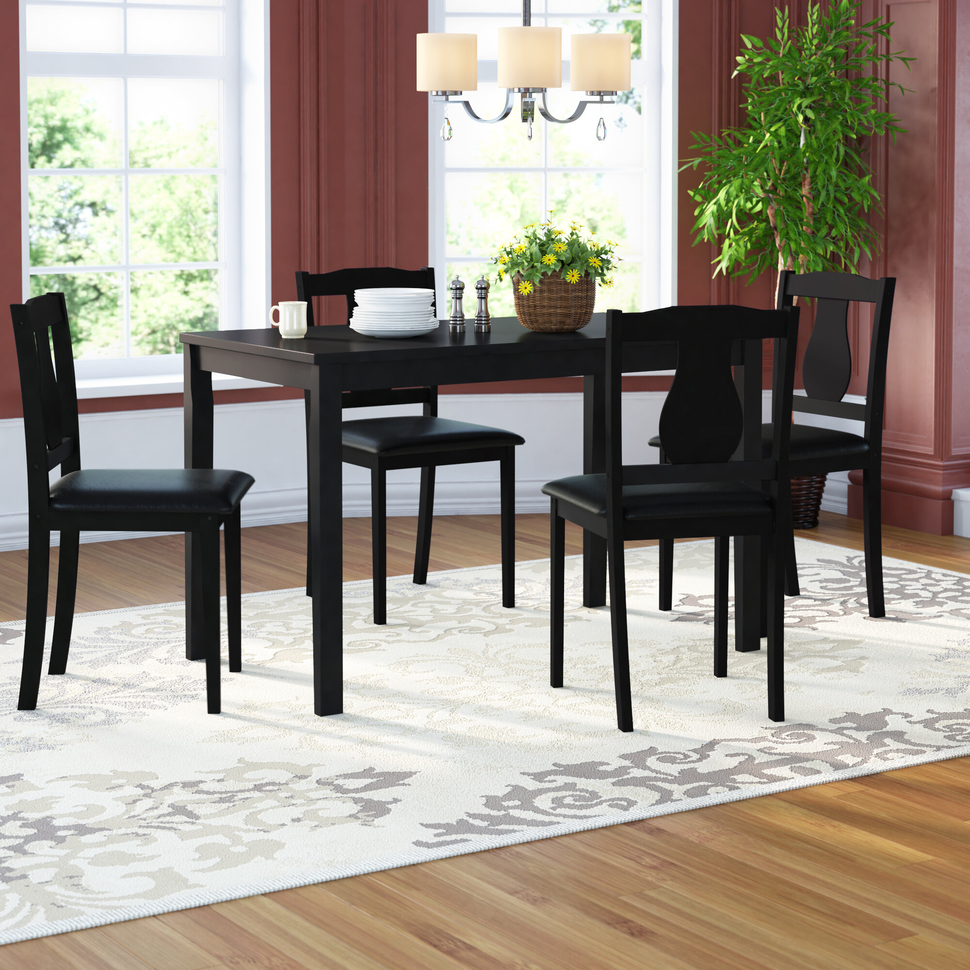 Andover Mills Kiel 5 Piece Dining Set & Reviews (#3 of 20)