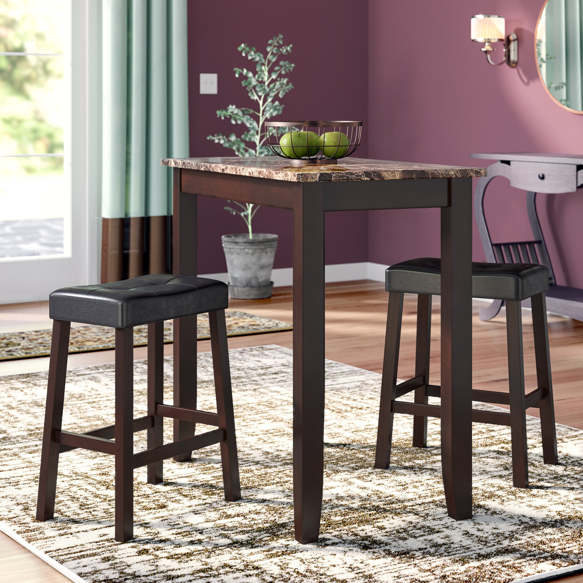 Andover Mills Morano 3 Piece Pub Table Set & Reviews (View 19 of 20)