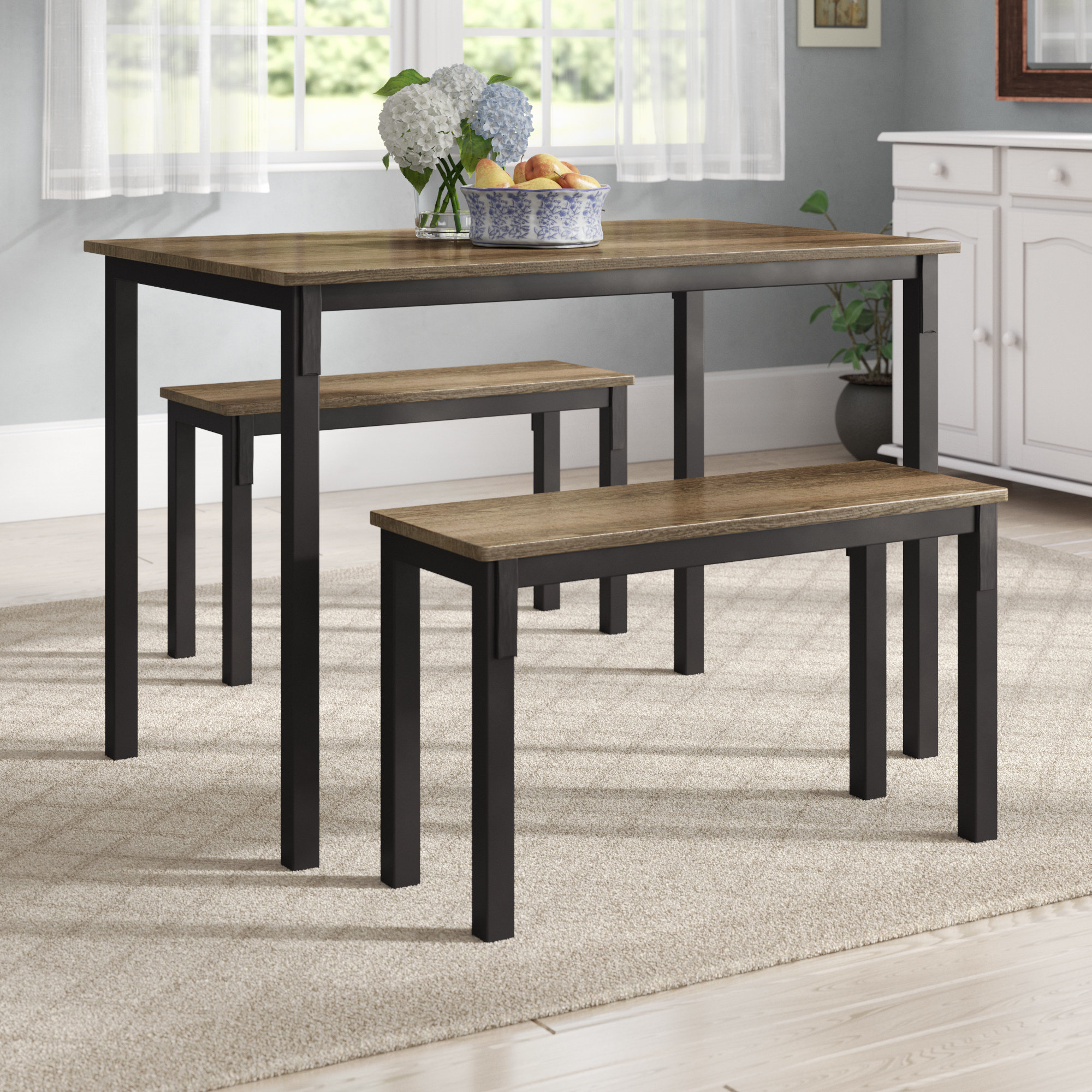 Andover Mills Rossiter 3 Piece Dining Set & Reviews (#1 of 20)