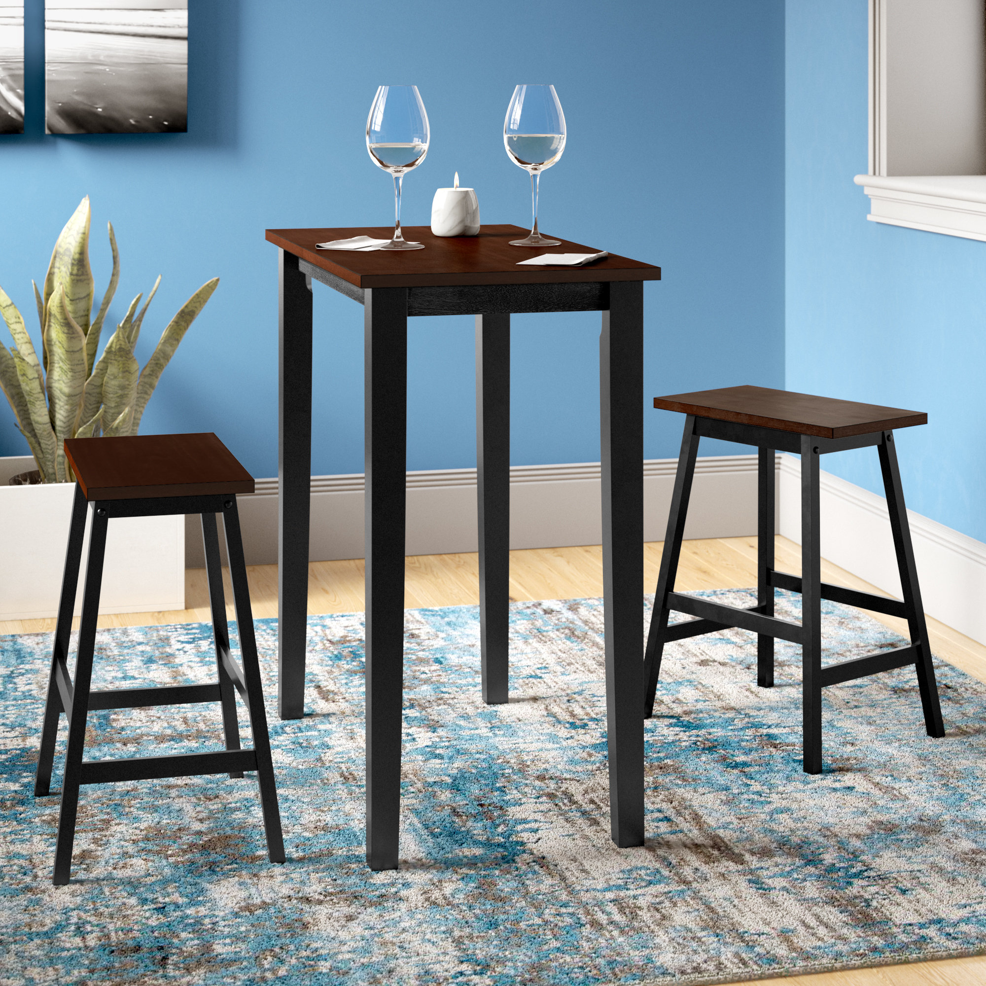 Andover Mills Ryker 3 Piece Dining Set & Reviews (View 3 of 20)