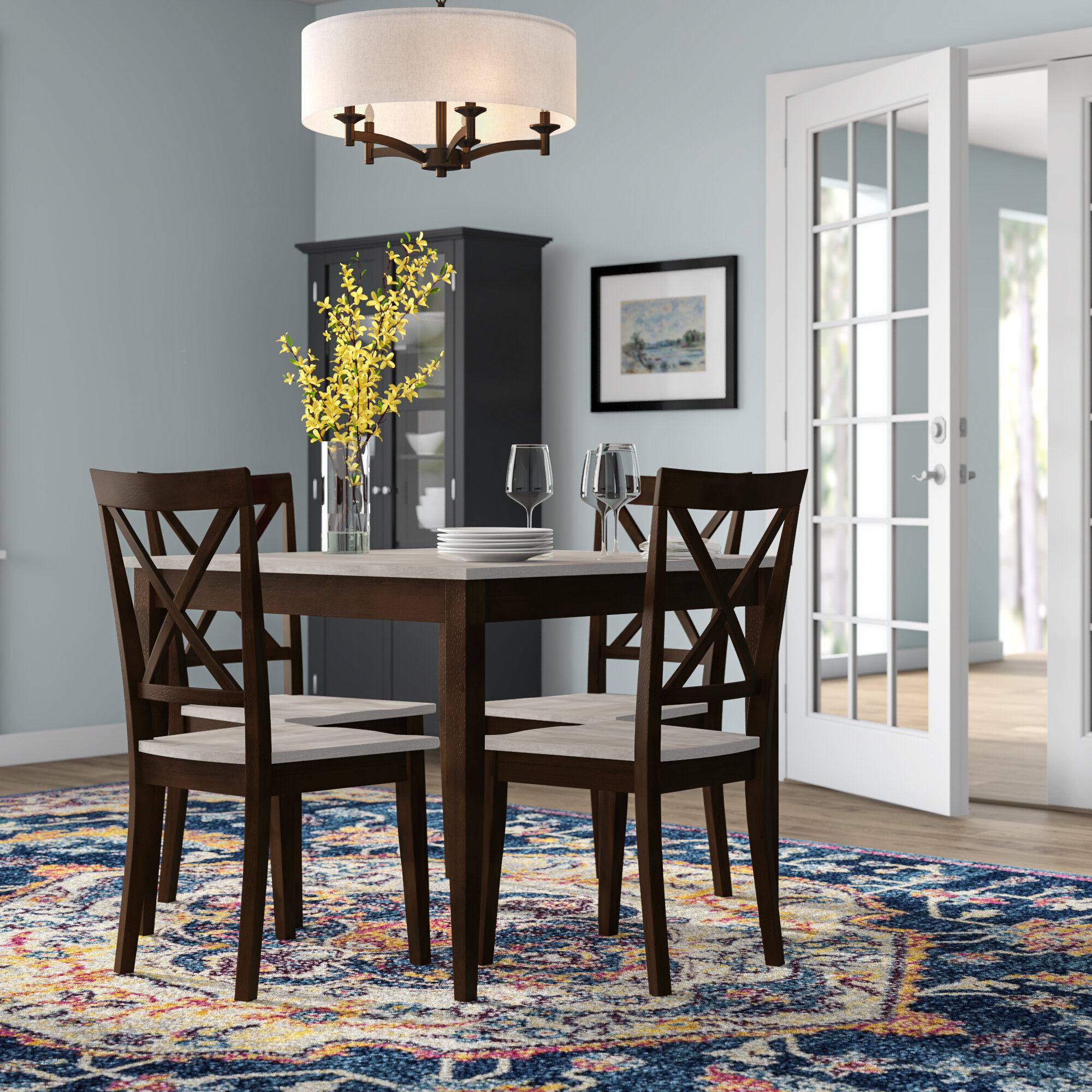 Andover Mills Tilley Rustic 5 Piece Dining Set & Reviews (#1 of 20)