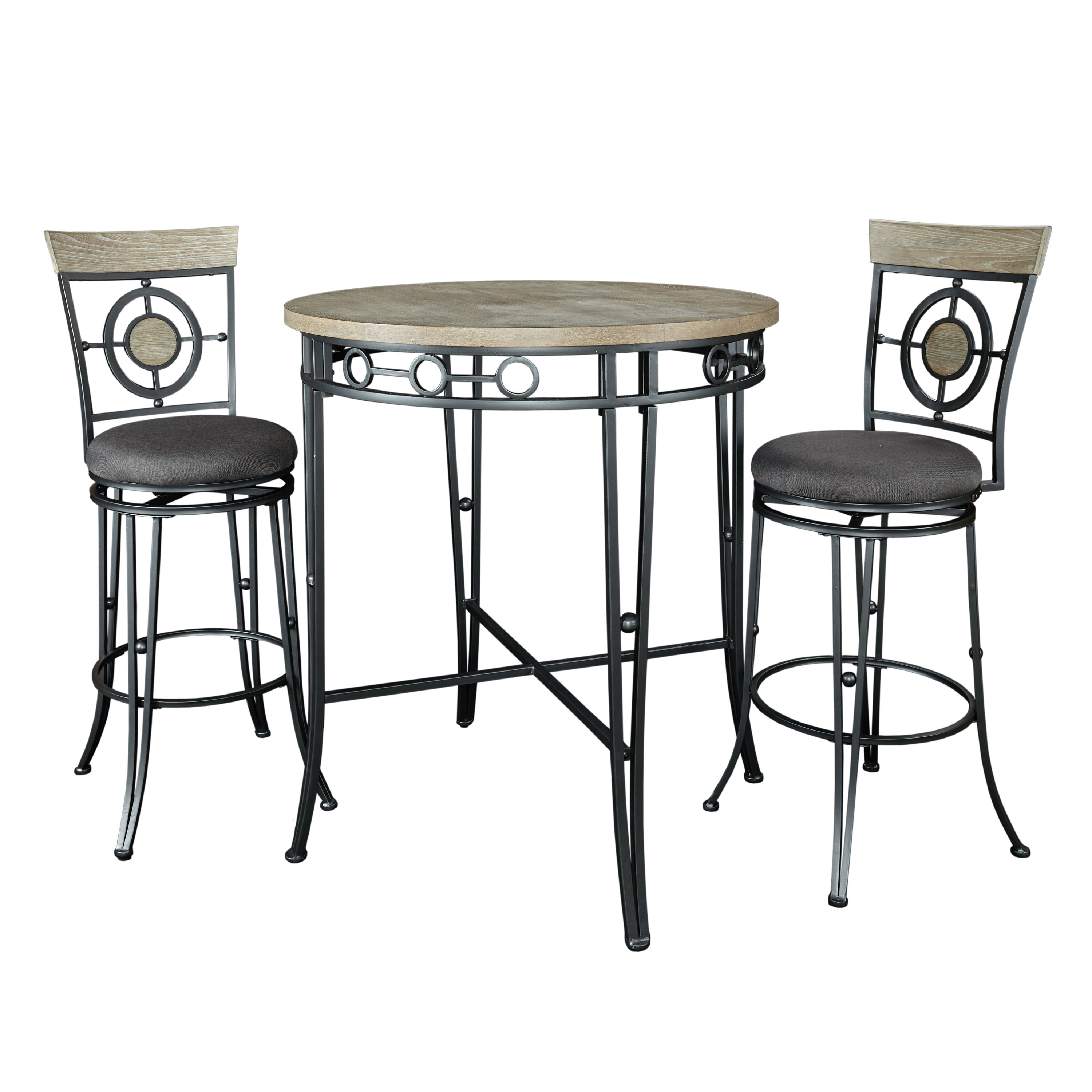 Anette 3 Piece Counter Height Dining Sets In Best And Newest World Menagerie Benedetto 3 Piece Pub Table Set (#3 of 20)