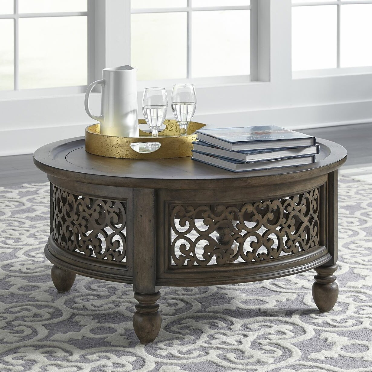 Astoria Grand Gandy Coffee Table With Tray Top (#2 of 20)