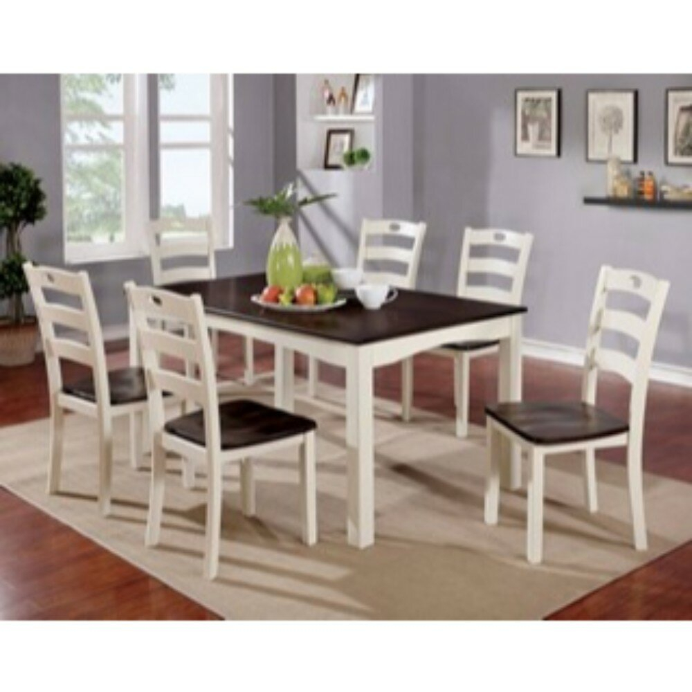 August Grove Valladares 7 Piece Solid Wood Dining Set (View 6 of 20)