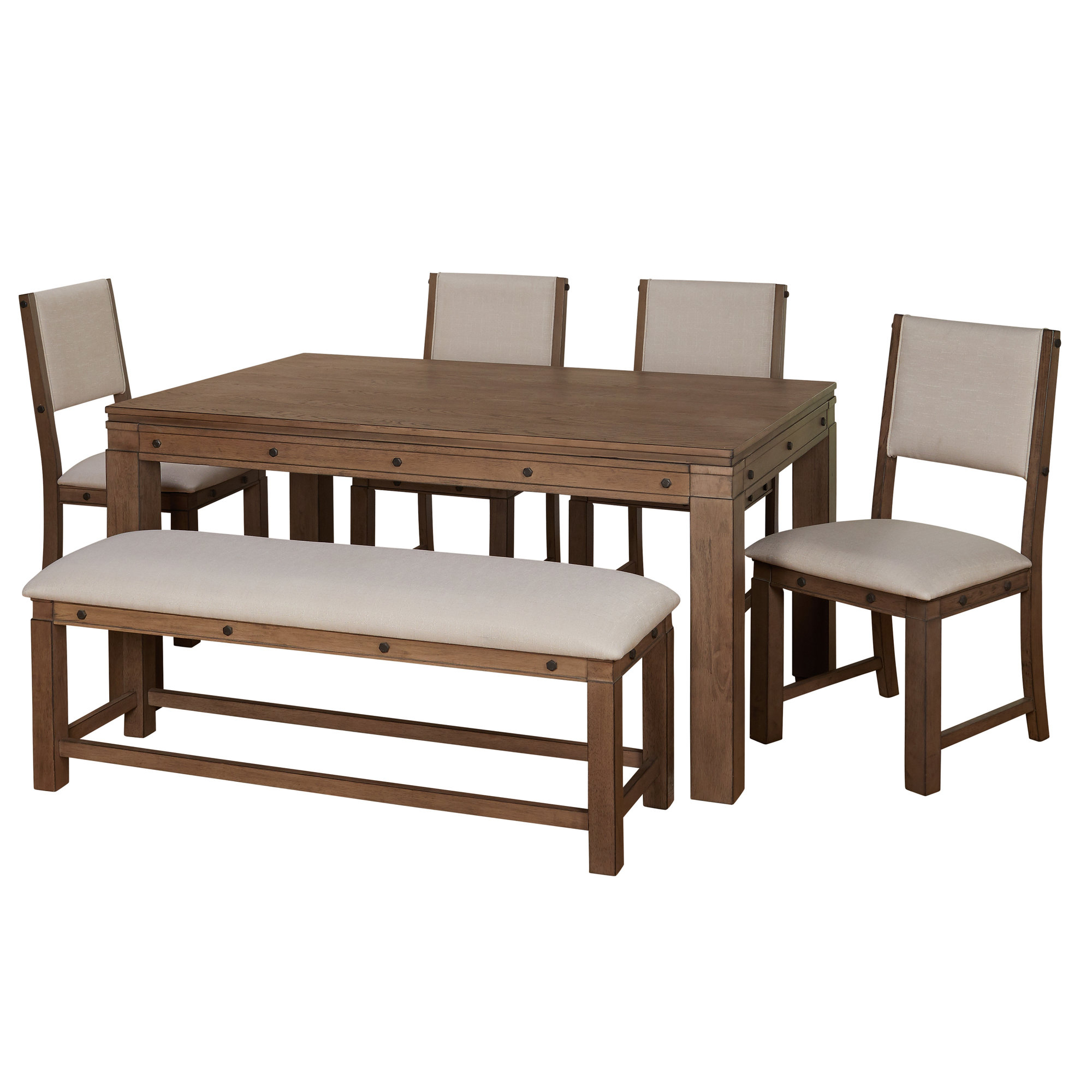 Autberry 5 Piece Dining Sets In Famous Gracie Oaks Westendorf 6 Piece Dining Set  (#2 of 20)