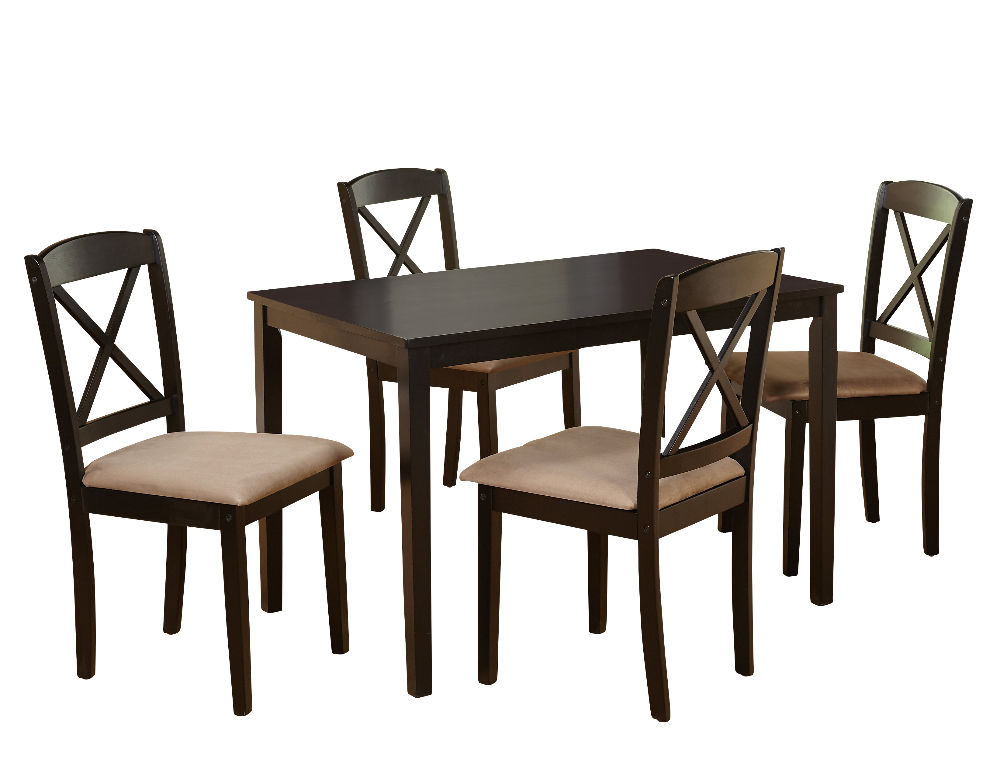 Baillie 3 Piece Dining Sets With Newest August Grove Scarlett 5 Piece Dining Set & Reviews (View 13 of 20)