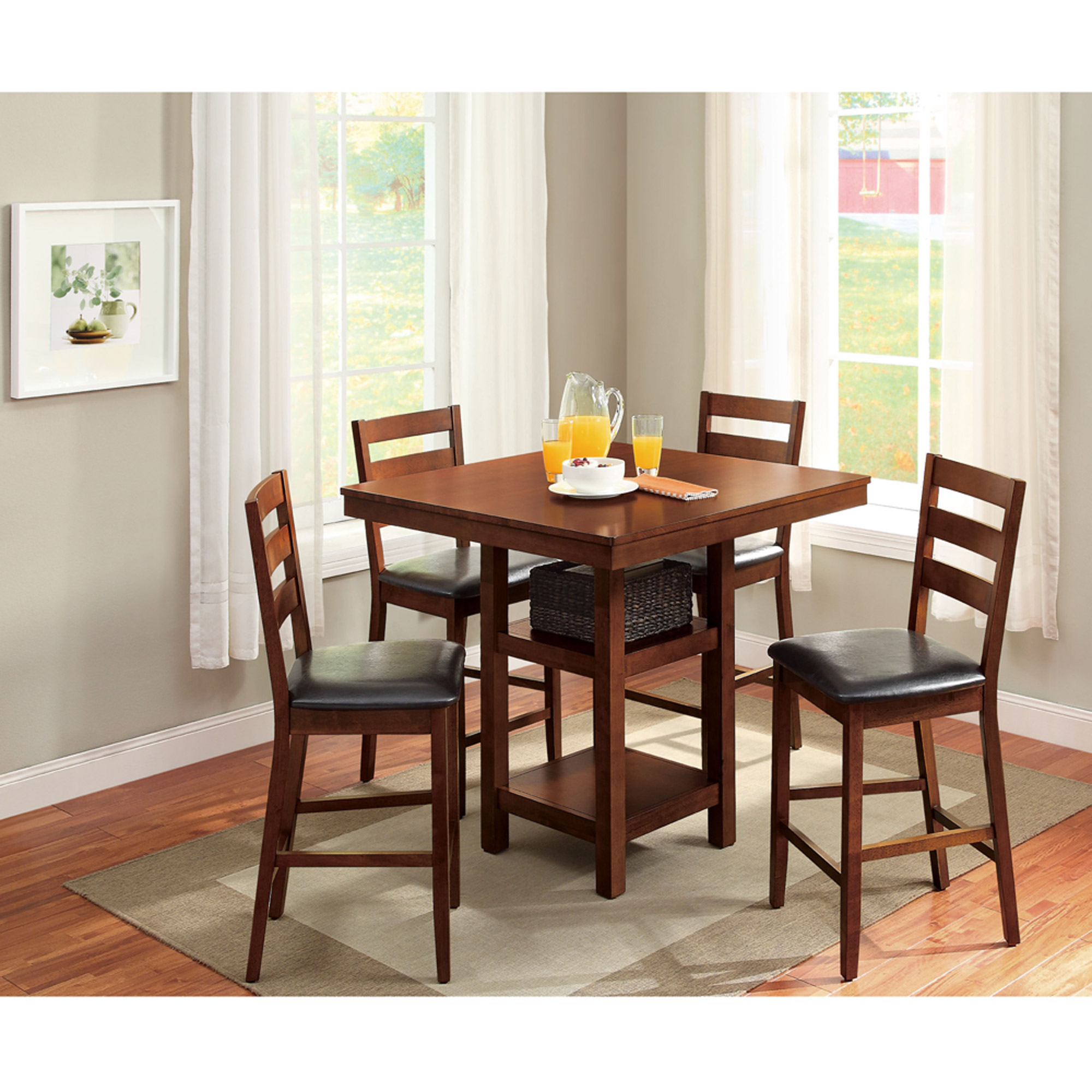 Best And Newest Better Homes & Gardens Dalton Park 5 Piece Counter Height Dining Set Intended For 5 Piece Dining Sets (#8 of 20)