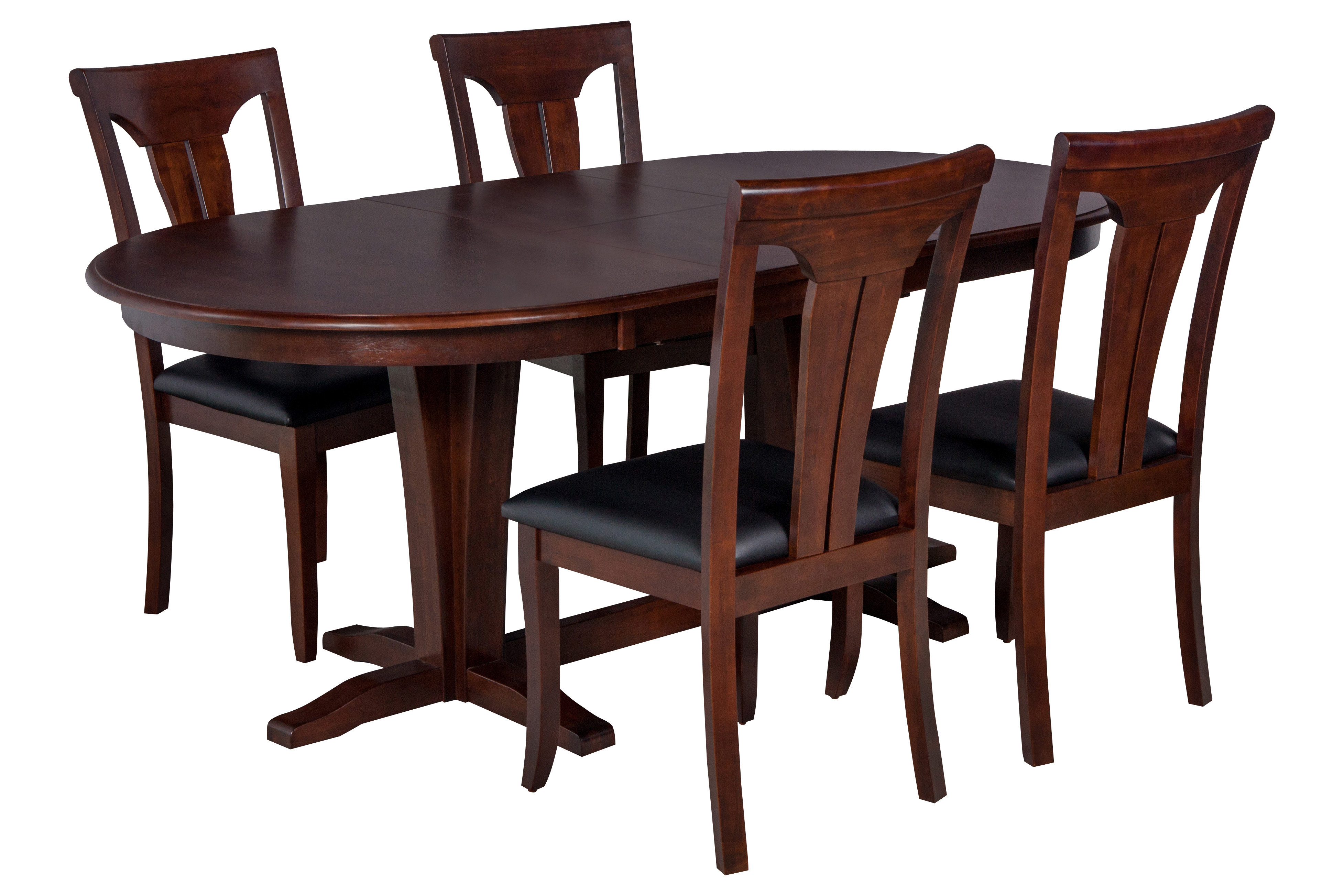 Best And Newest Darby Home Co Bateson 5 Piece Curved Back Chair Dining Set (#8 of 20)
