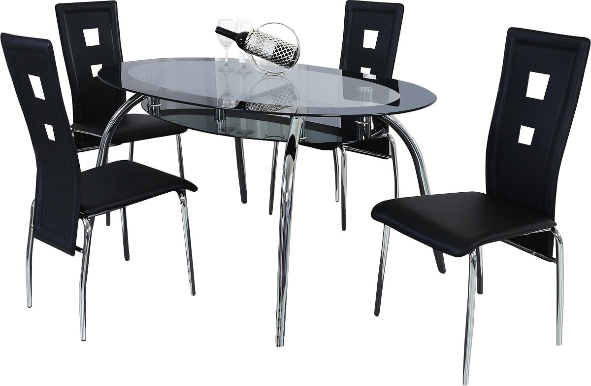 Best And Newest Mulvey 5 Piece Dining Sets Throughout Orren Ellis Brookview 5 Piece Dining Set & Reviews (#1 of 20)