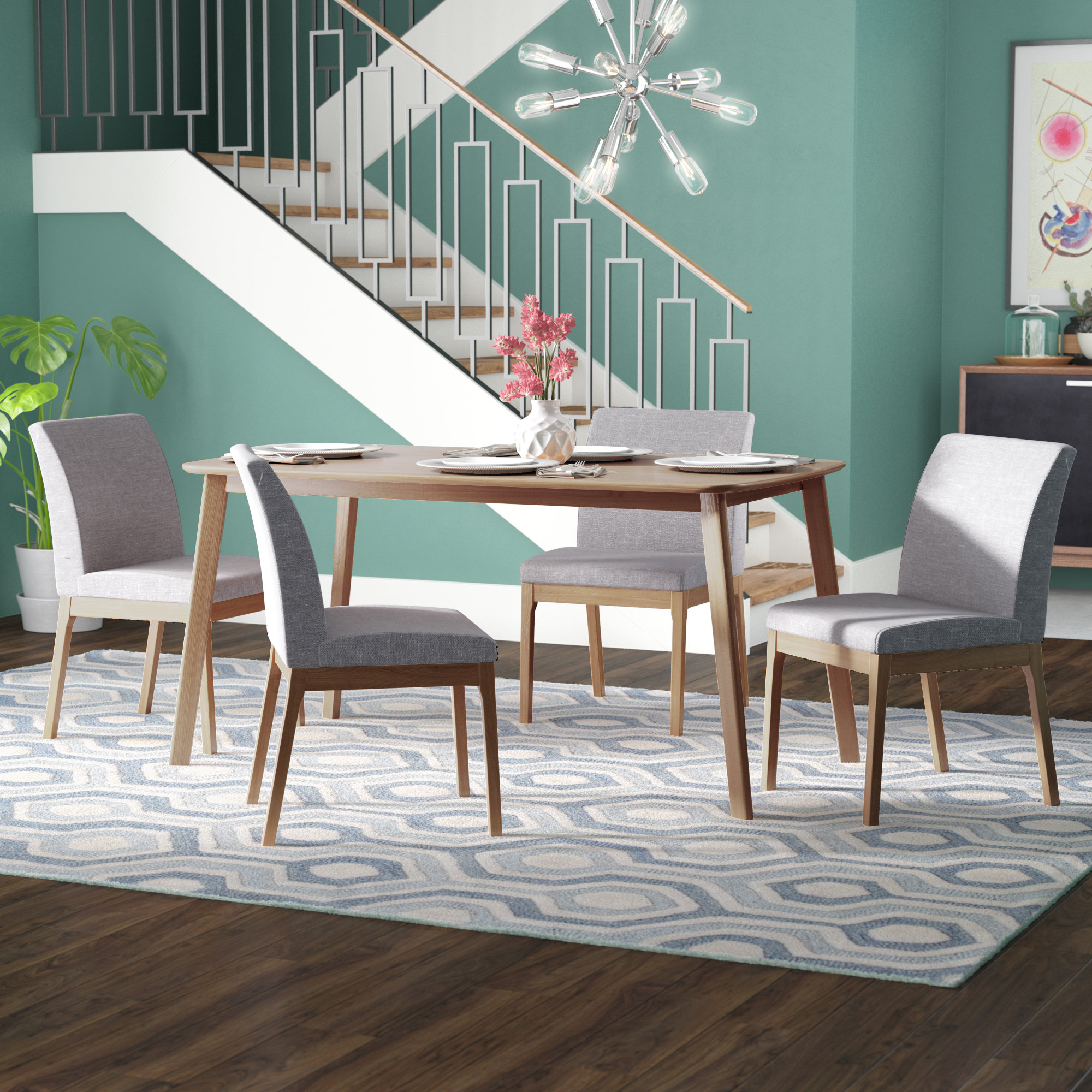 Best And Newest Tunis 5 Piece Dining Set & Reviews (#4 of 20)