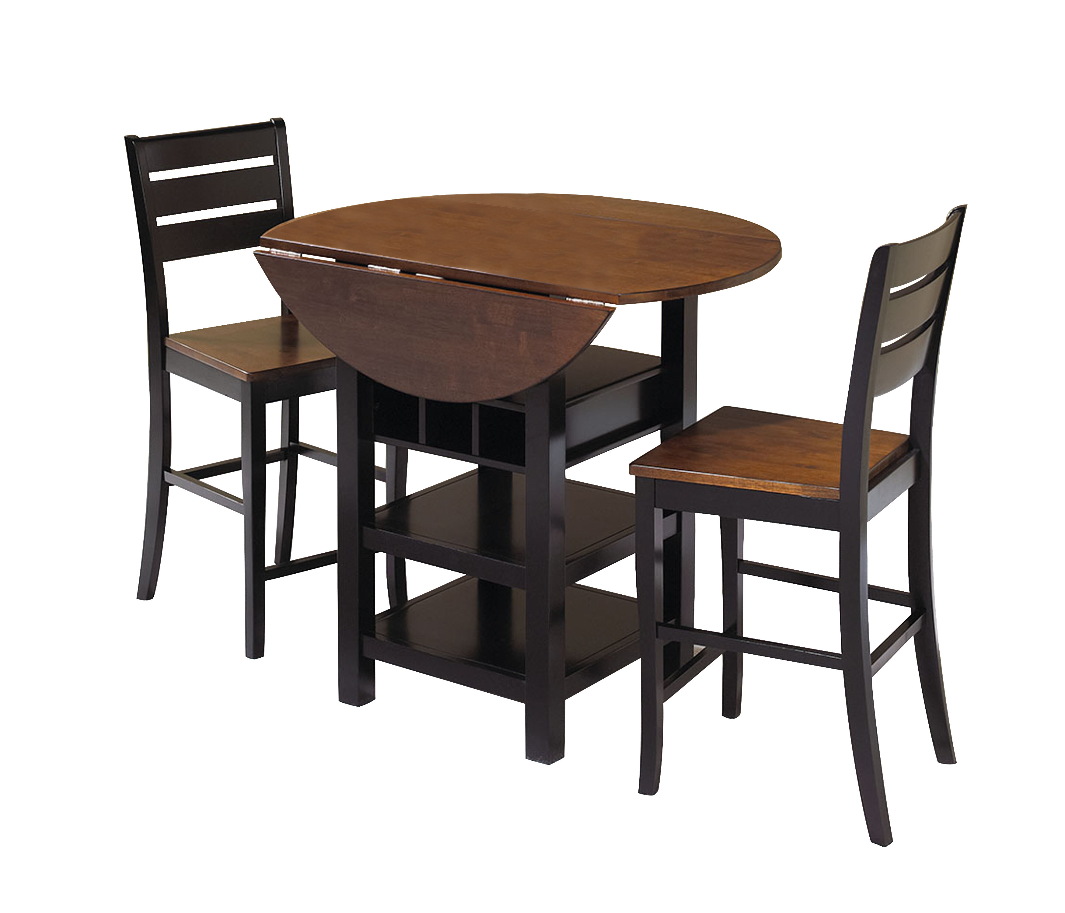 Best And Newest World Menagerie Atwater 3 Piece Counter Height Dining Set & Reviews With Bettencourt 3 Piece Counter Height Solid Wood Dining Sets (#2 of 20)
