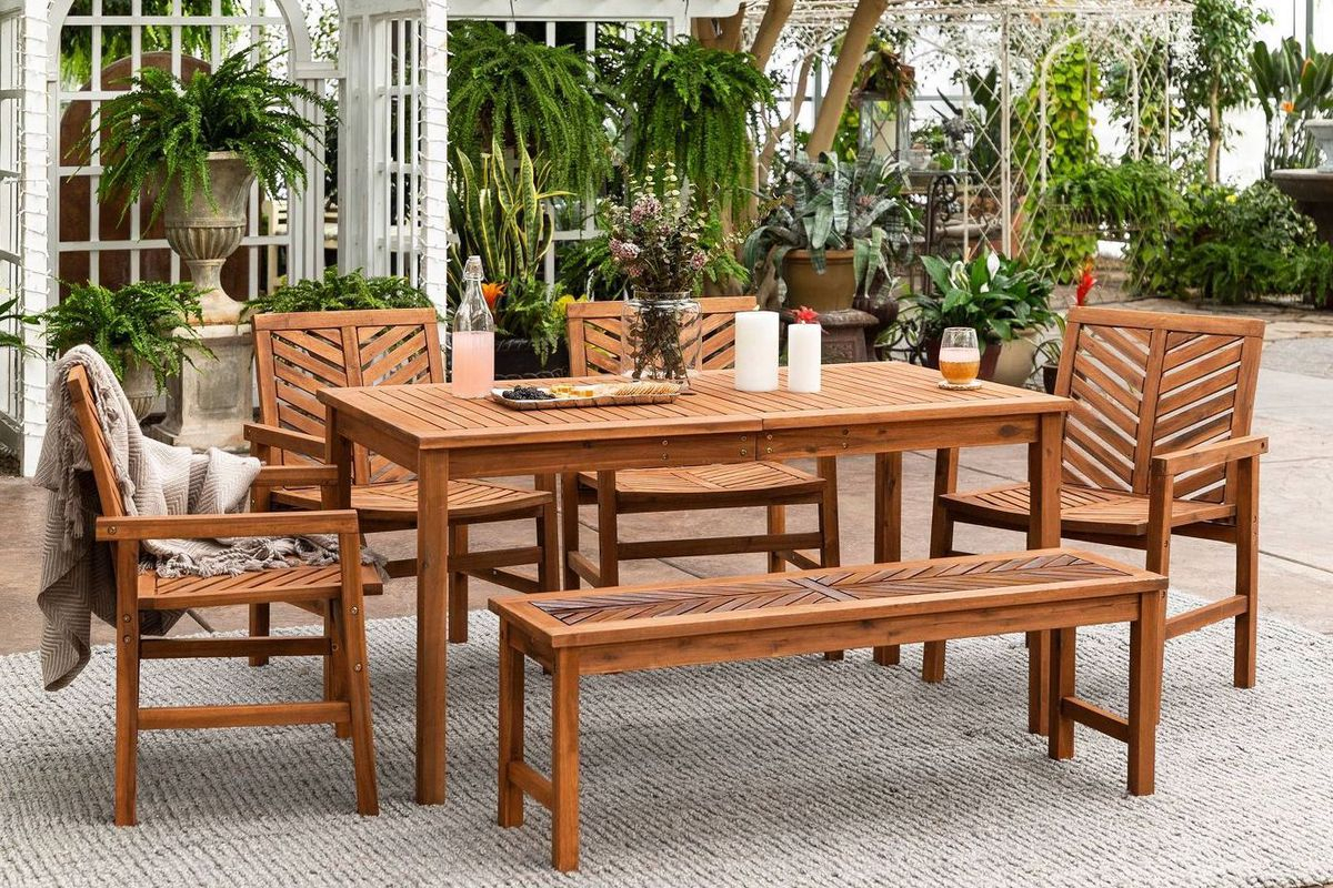 Best Outdoor Furniture: 12 Affordable Patio Dining Sets To Buy Now Regarding Favorite North Reading 5 Piece Dining Table Sets (#2 of 20)