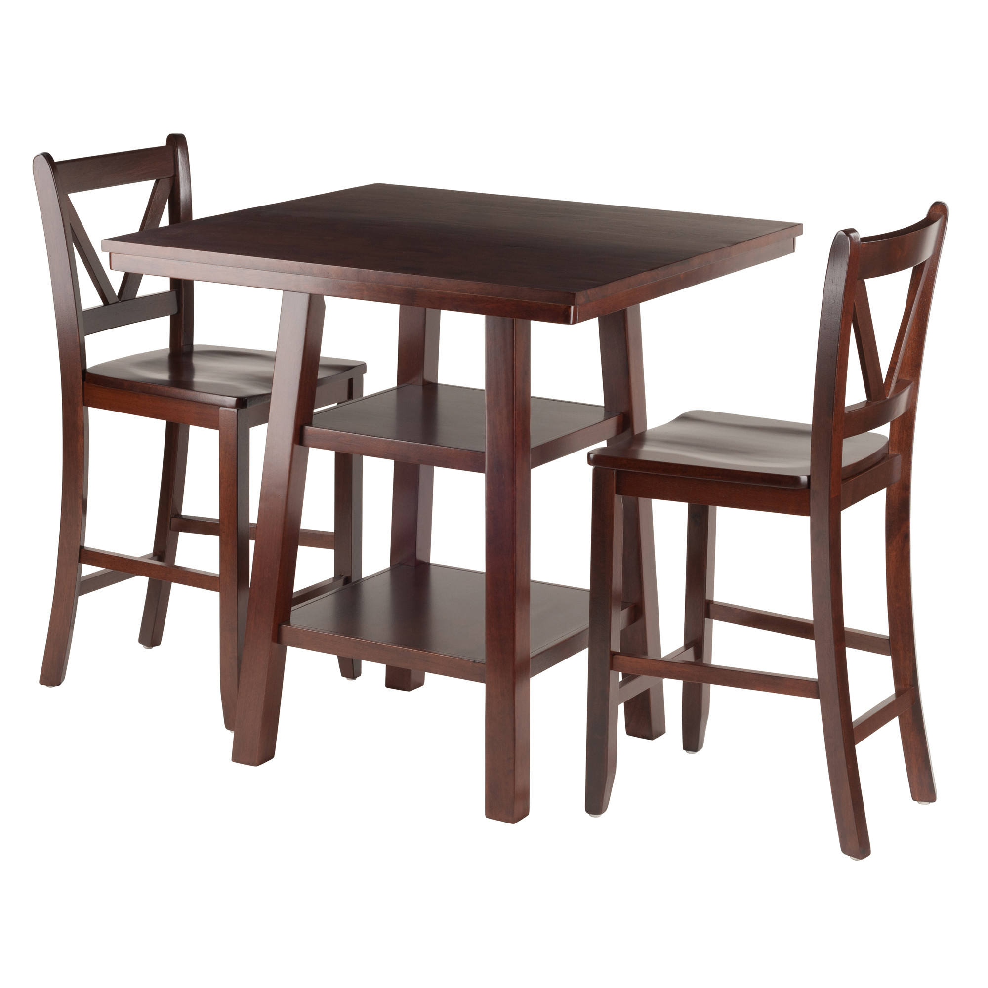 Bettencourt 3 Piece Counter Height Solid Wood Dining Sets Within Widely Used Red Barrel Studio Pratt Street 3 Piece Dining Set Rdbs (#8 of 20)