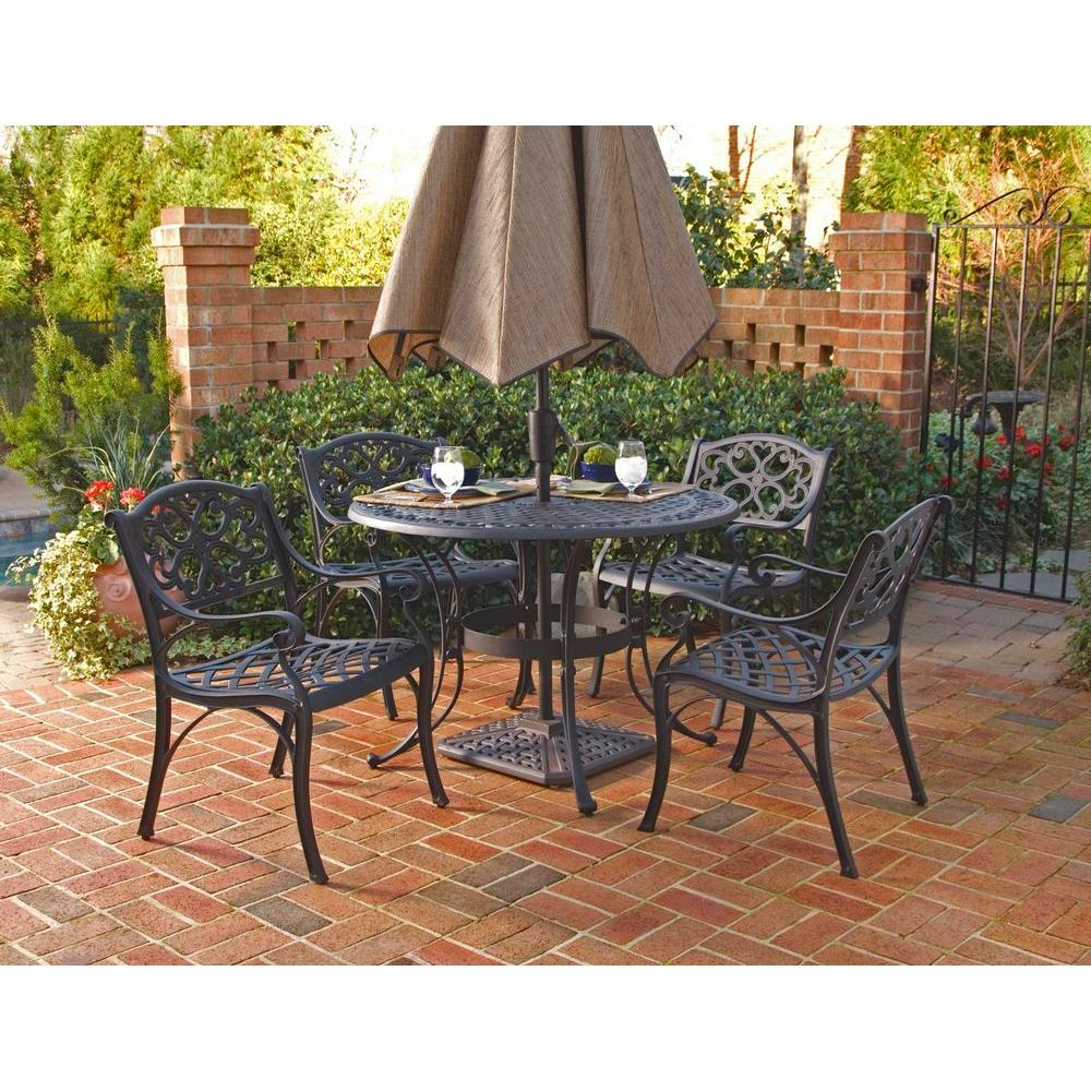 Biscayne – Patio Dining Sets – Patio Dining Furniture – The Home Depot For Most Popular Aria 5 Piece Dining Sets (View 20 of 20)