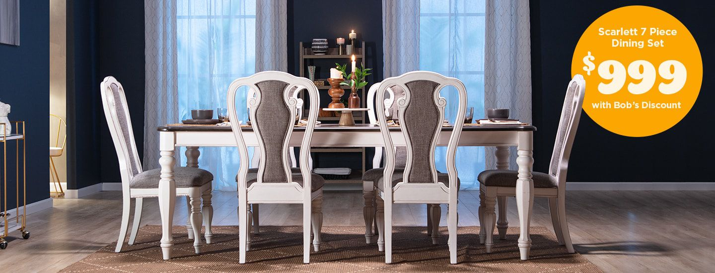 Bobs Regarding Cincinnati 3 Piece Dining Sets (View 15 of 20)