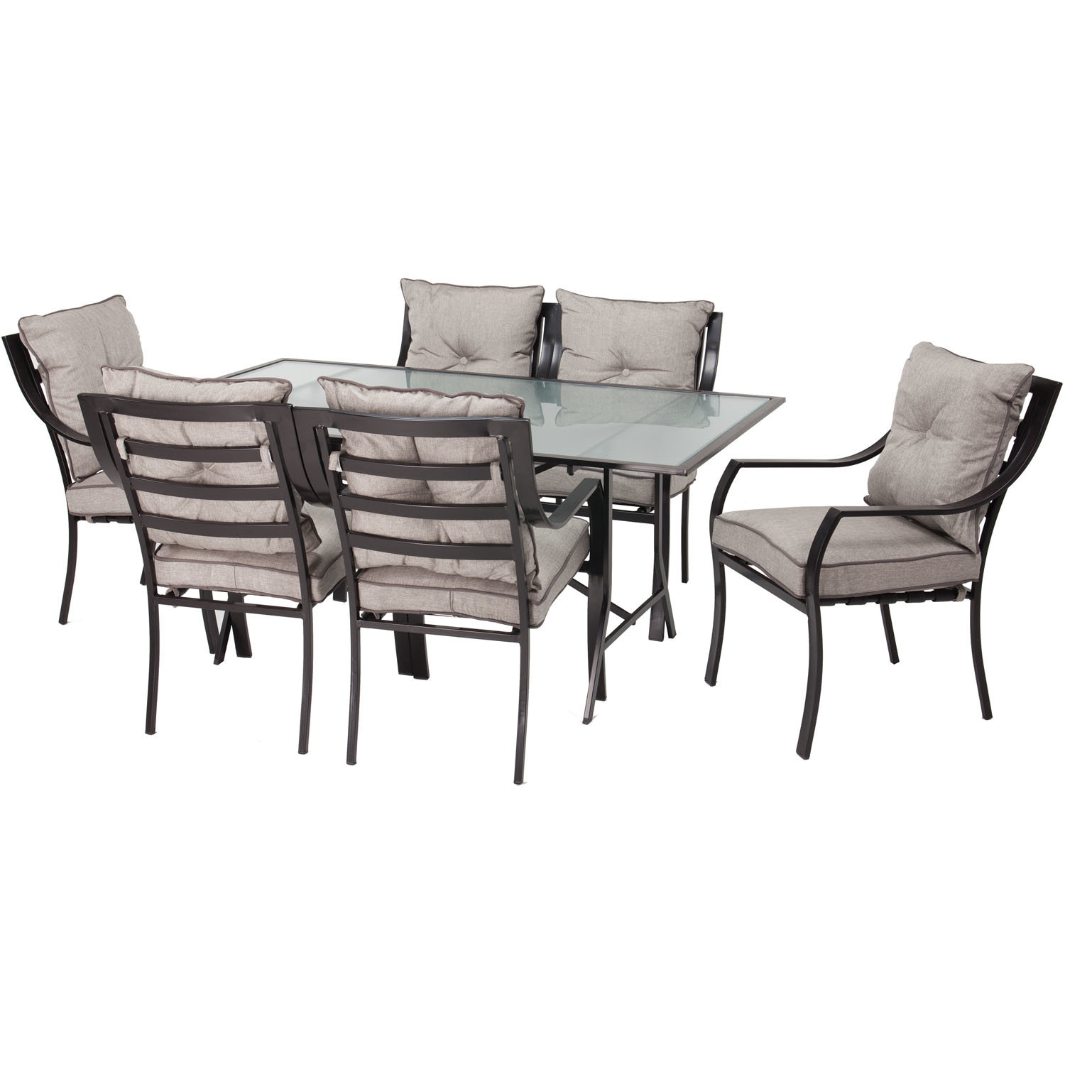 Bozarth 7 Piece Dining Set With Cushion (#3 of 20)