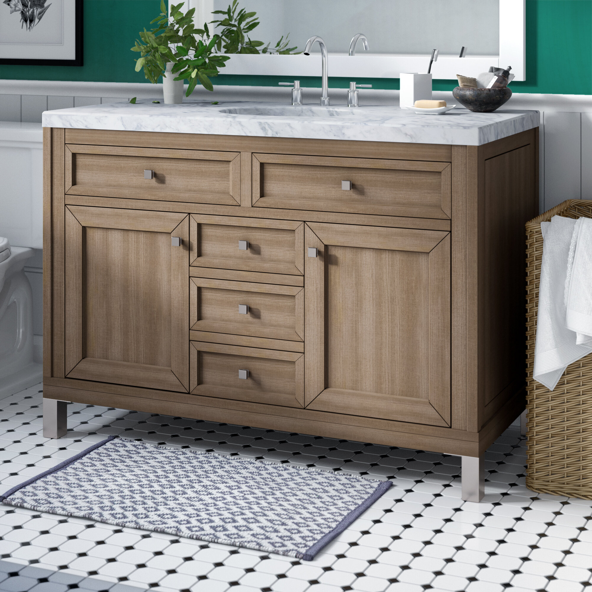 "Brayden Studio Valladares 48"" Single Bathroom Vanity Set & Reviews With Regard To Well Liked Valladares 3 Piece Pub Table Sets (View 12 of 20)"