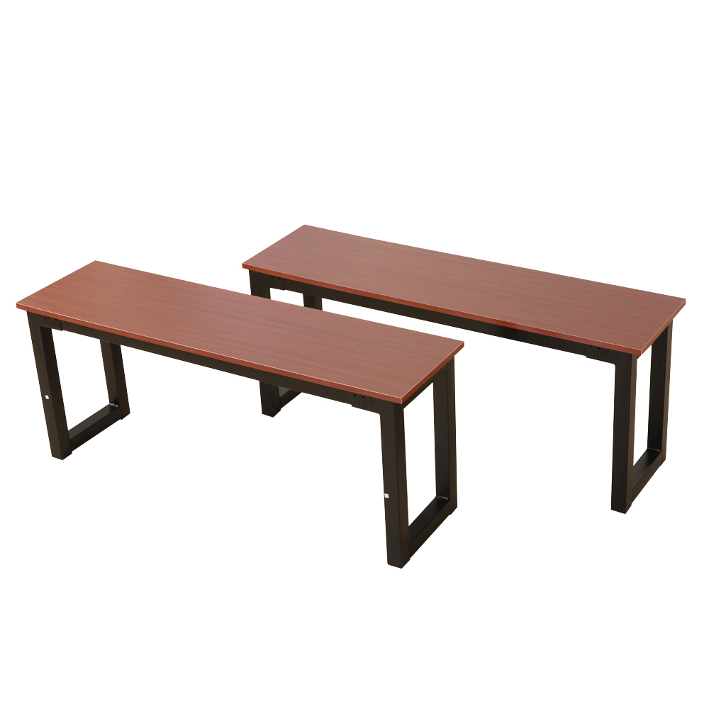 Brown Dining Table Set 3 Piece Benches Breakfast Nook Steel Frame Throughout Recent Lillard 3 Piece Breakfast Nook Dining Sets (View 10 of 20)