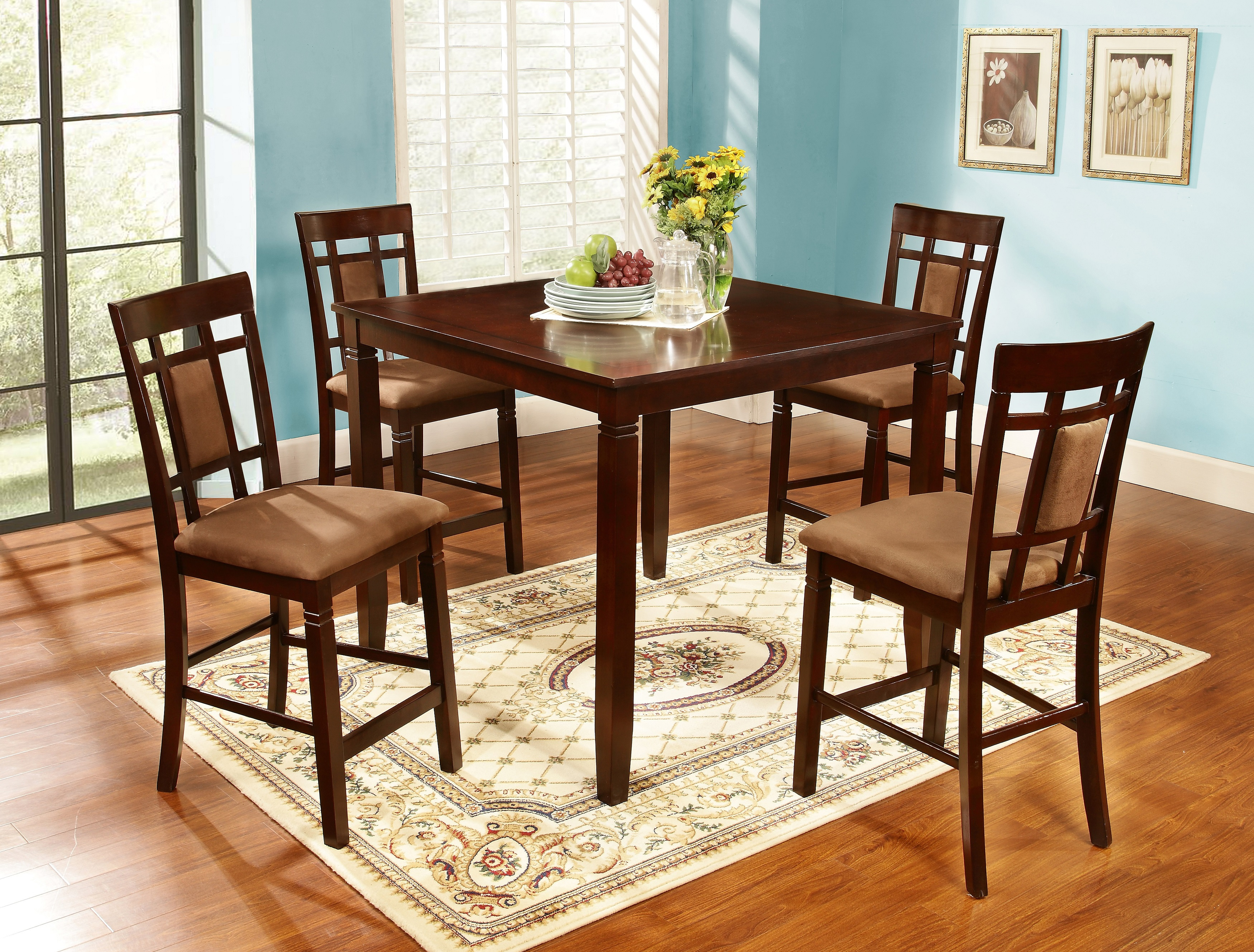 Bryson 5 Piece Dining Sets Throughout Current Bryson 5 Pcs Dining Set – Walmart (#6 of 20)
