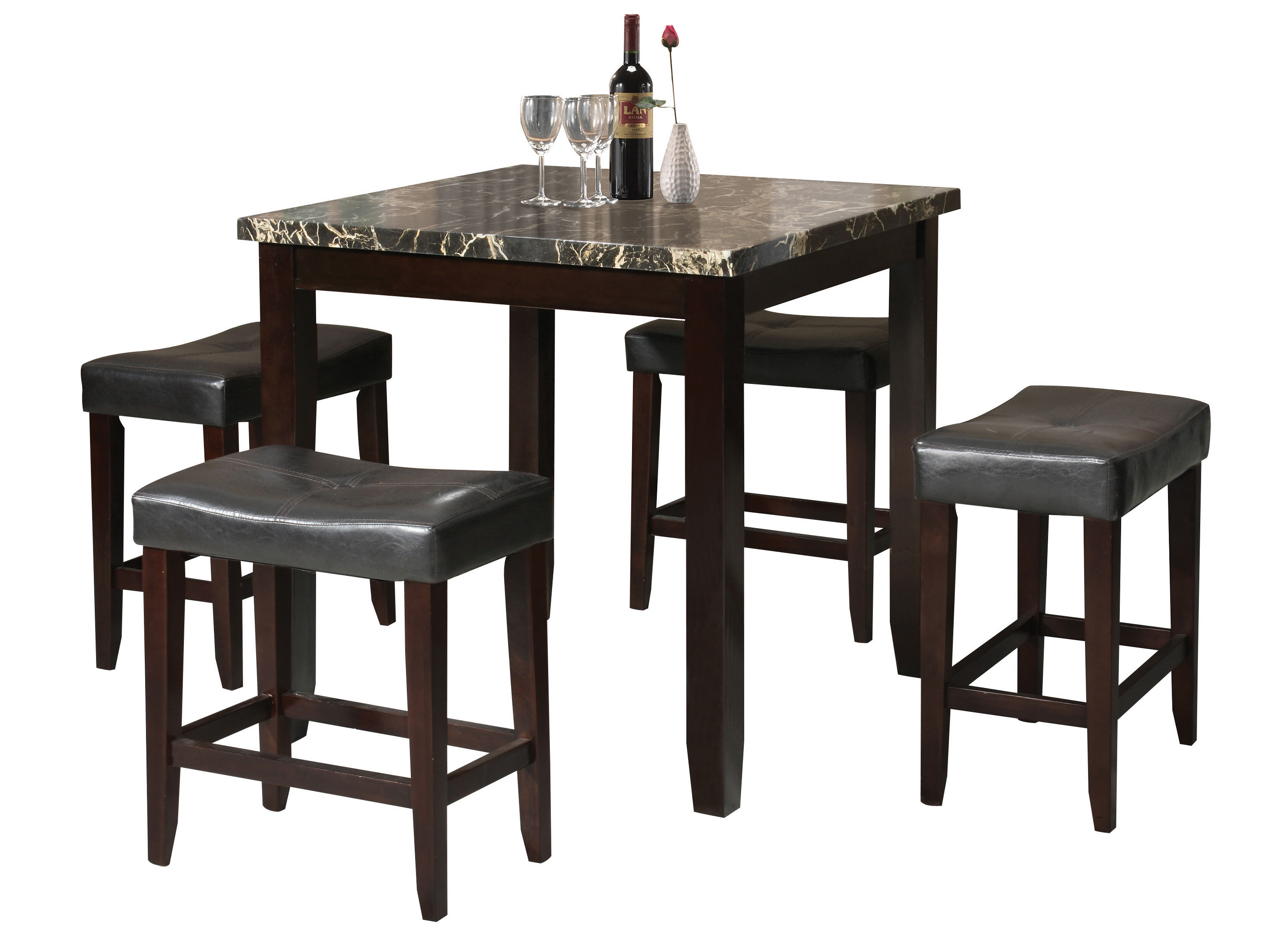 Bryson 5 Piece Dining Sets Within Most Recent Dehaven 5 Piece Counter Height Dining Set & Reviews (#7 of 20)