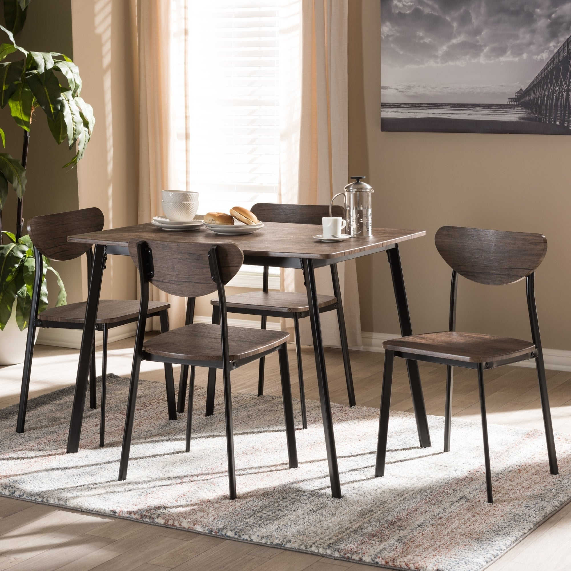 Buy 5 Piece Sets Kitchen & Dining Room Sets Online At Overstock In Famous West Hill Family Table 3 Piece Dining Sets (#3 of 20)