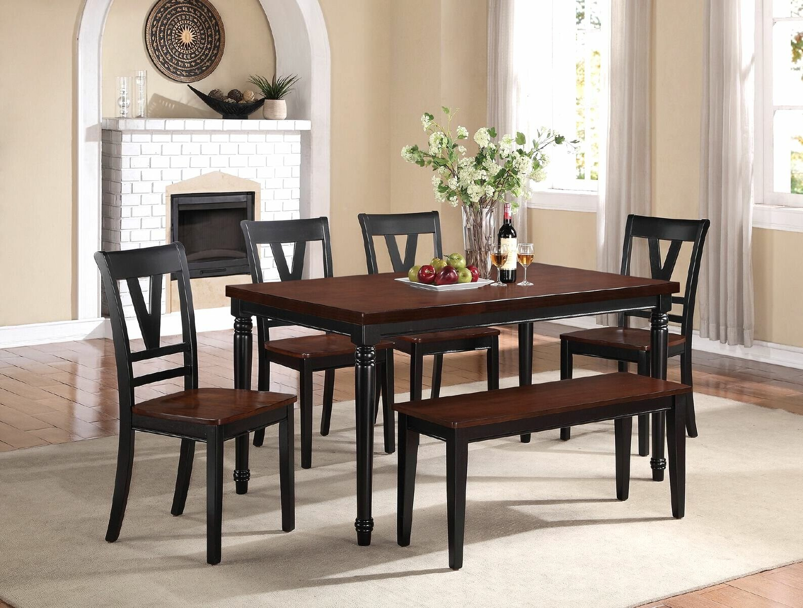 Canora Grey Stephenson 6 Piece Dining Set (View 1 of 20)