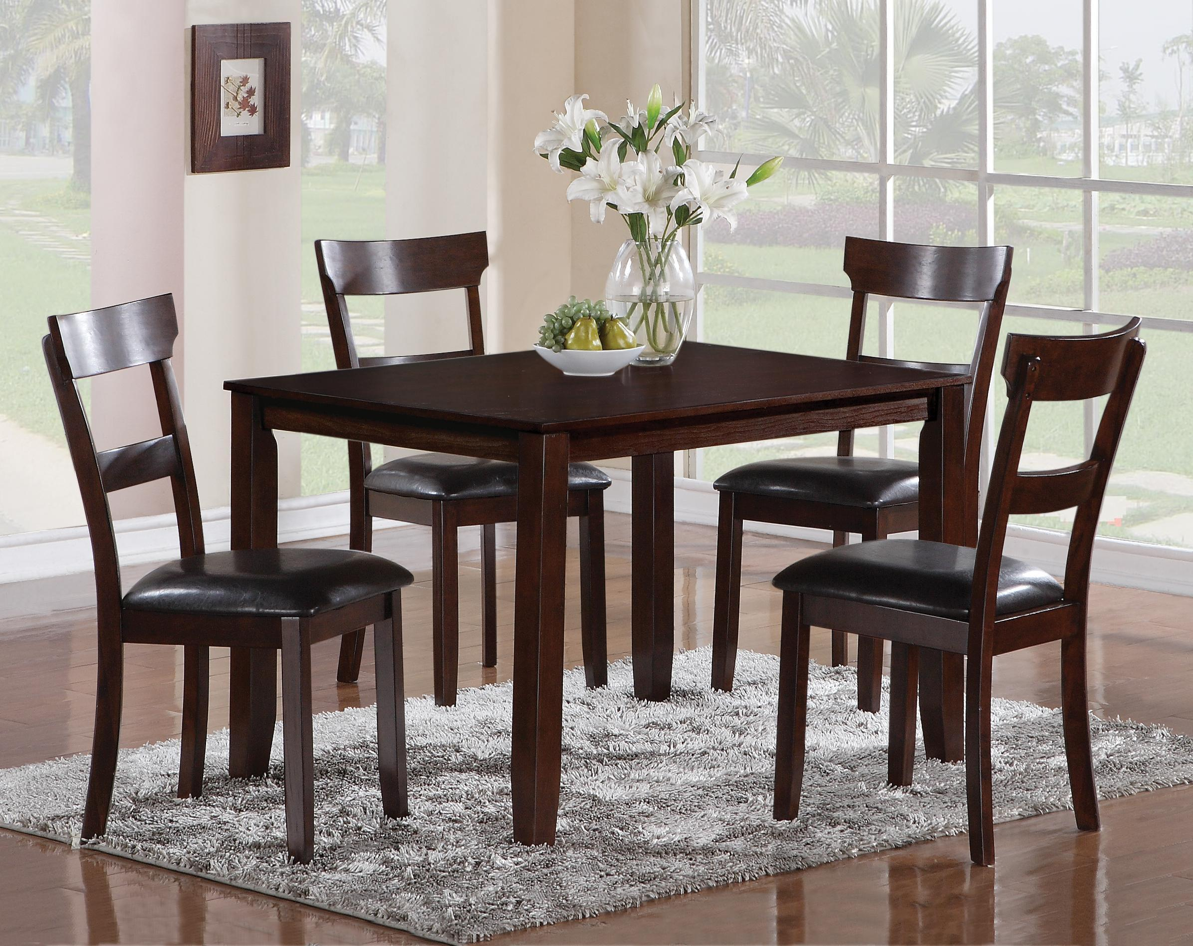 Cargo 5 Piece Dining Sets Throughout Best And Newest Crown Mark Henderson 2254Set 5 Piece Dining Table And Chair Set (#7 of 20)