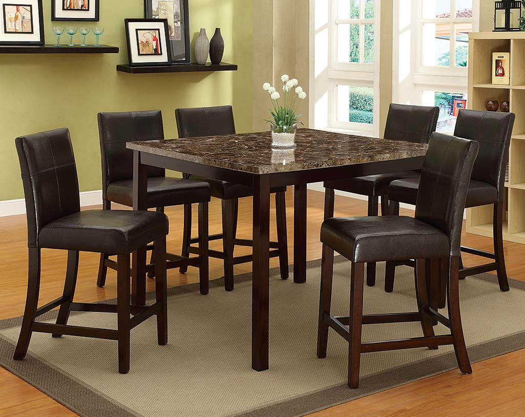 Cargo 5 Piece Dining Sets Within Trendy Pompei 5 Piece Counter Height Dining Set (#8 of 20)
