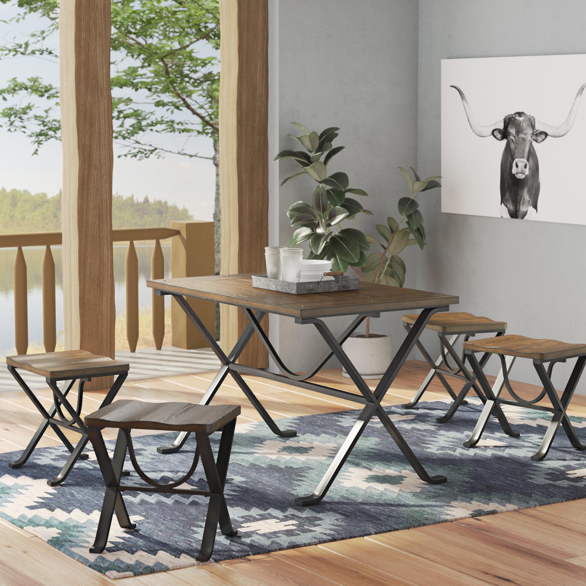 Casiano 5 Piece Dining Sets Regarding Latest Trent Austin Design Aguiar 5 Piece Dining Set & Reviews (View 4 of 20)