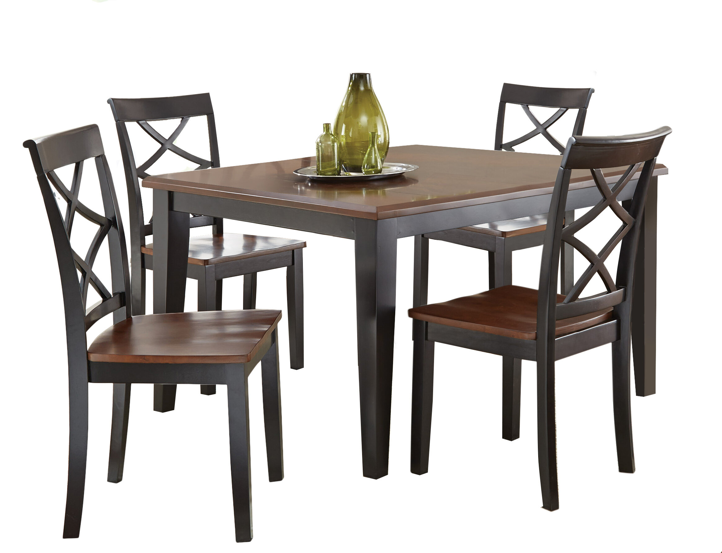 Charlton Home Ari 5 Piece Drop Leaf Dining Set & Reviews (#2 of 20)