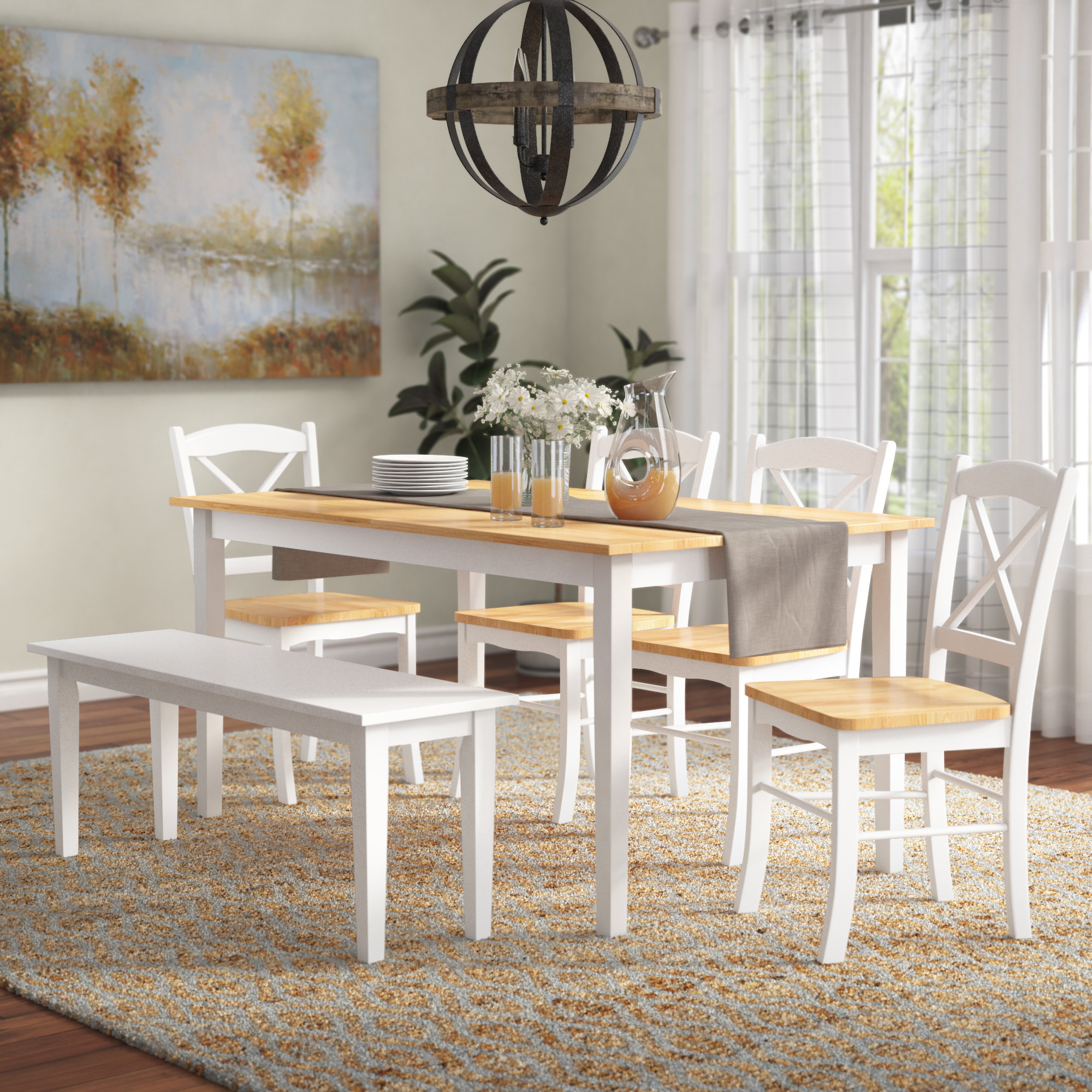 Charlton Home Castellon 6 Piece Dining Set & Reviews (View 1 of 20)