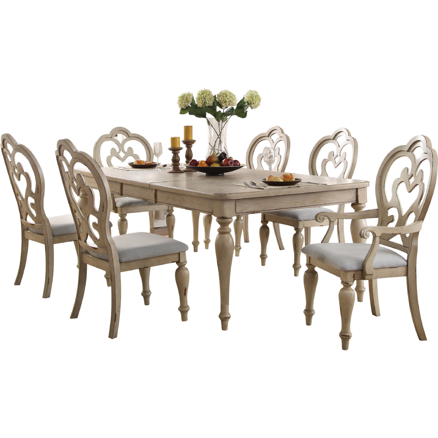 Chelmsford 3 Piece Dining Sets Intended For Favorite Acme 66052 Chelmsford Dining Chair In Beige Fabric & Antique Taupe (View 4 of 20)
