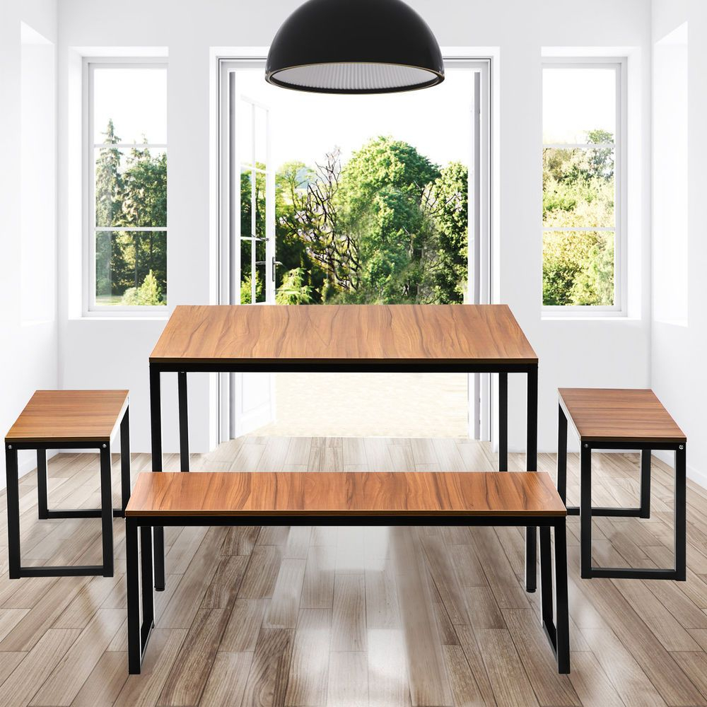 College Diningroom Furniture 4 Piece Dining Set With 2 Stools For For Current John 4 Piece Dining Sets (#2 of 20)