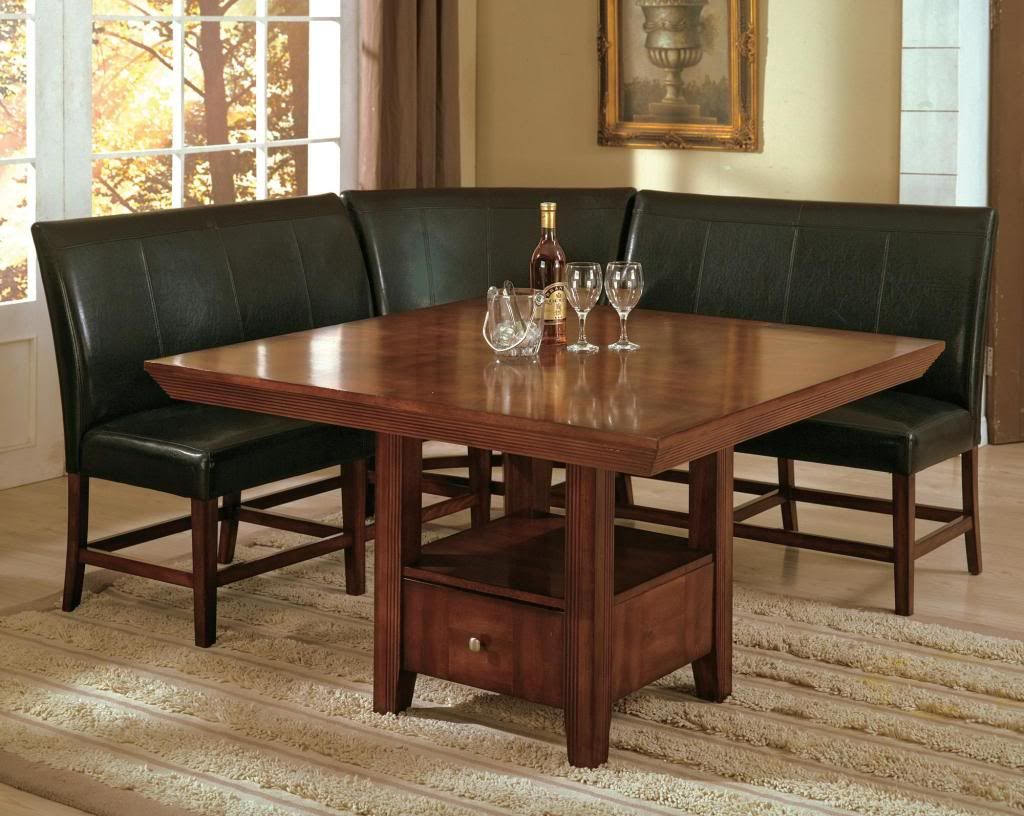 Current 3 Piece Breakfast Nook Dinning Set With Regard To Details About Dining Set Breakfast Nook Bench Table Kitchen Dinette (View 13 of 20)