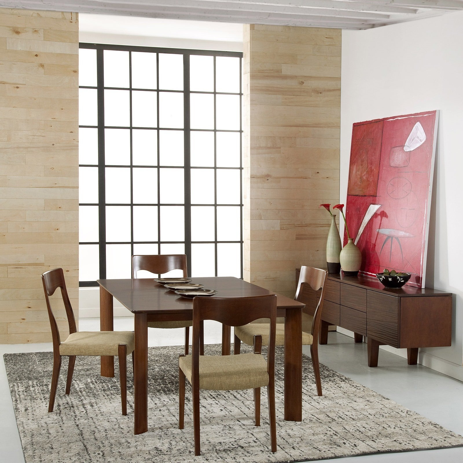 Current Aria 5 Piece Dining Sets Within Shop Saloom Ari 42 X 72 Rectangular Extension Maple Smooth Top (View 18 of 20)