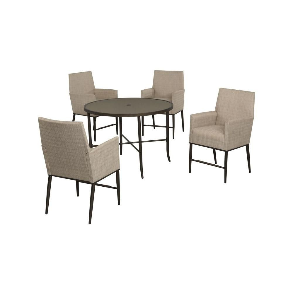 Current Hampton Bay Aria 5 Piece Patio High Dining Set Fcs80223st – The Home With Regard To Aria 5 Piece Dining Sets (View 5 of 20)