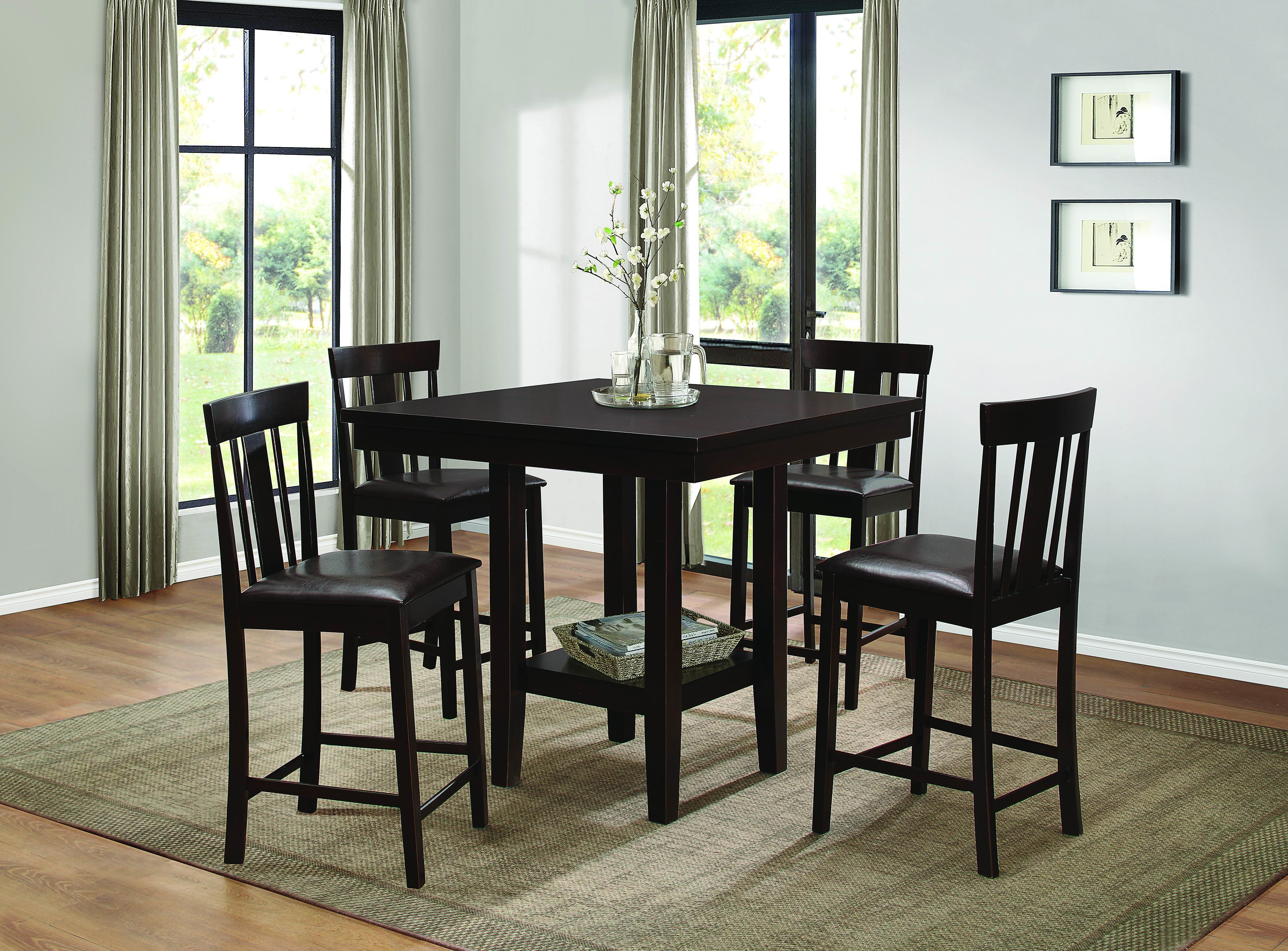 Current Homelegance Diego 5 Piece Dining Set (#3 of 20)