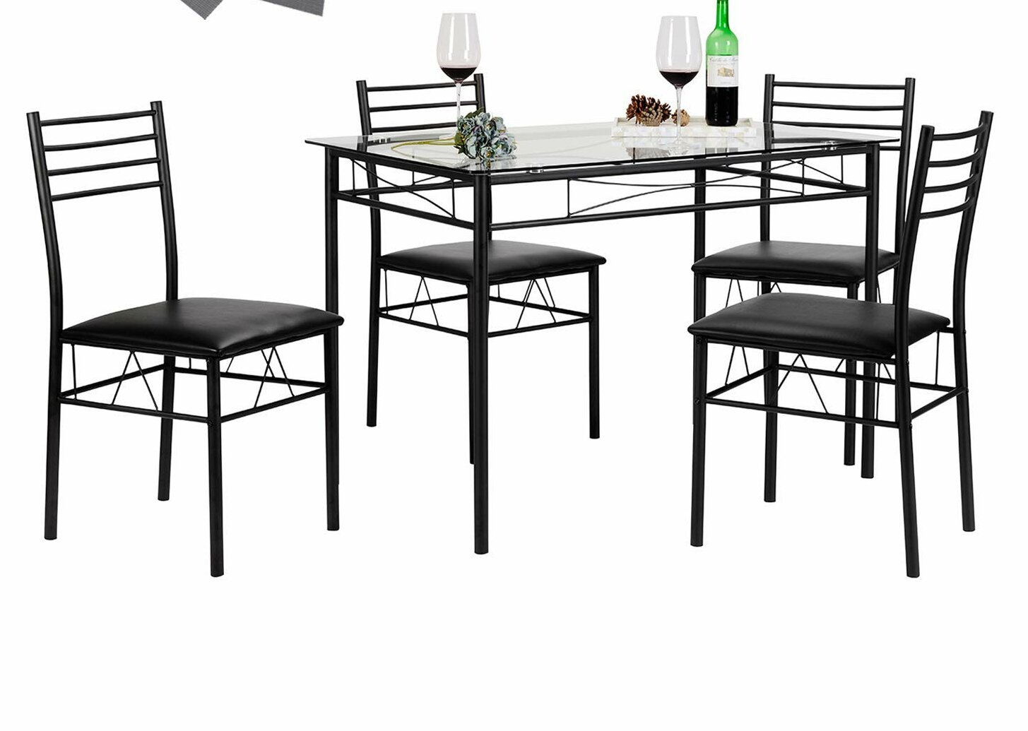Popular Photo of Lightle 5 Piece Breakfast Nook Dining Sets