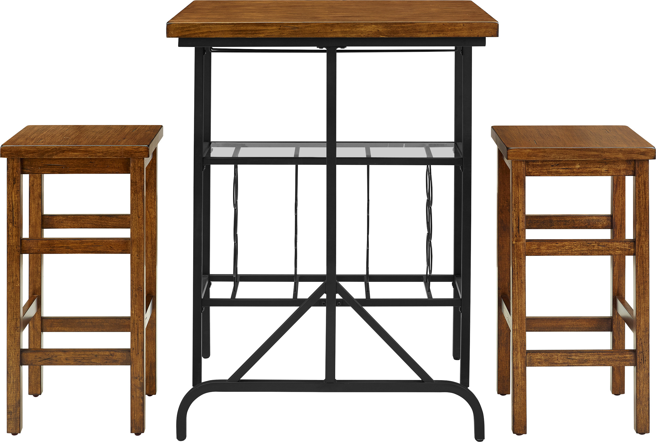 Current Loon Peak Ordway 3 Piece Dining Set & Reviews (#3 of 20)