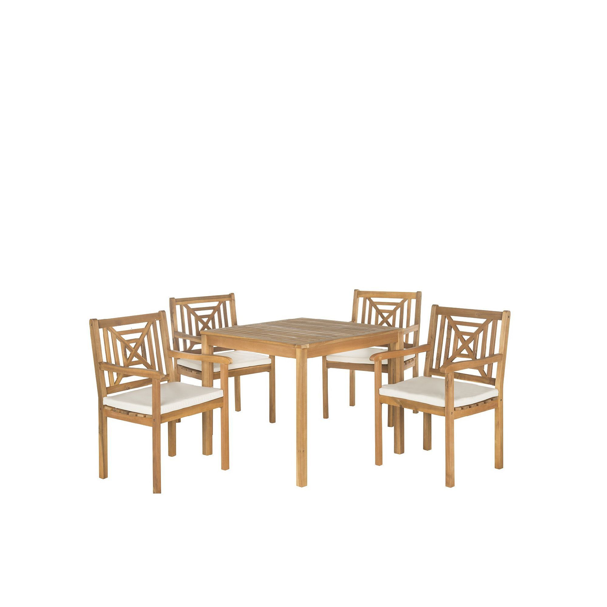 Current Safavieh Del Mar Indoor / Outdoor Dining Table & Chair 5 Piece Set Inside Delmar 5 Piece Dining Sets (View 18 of 20)