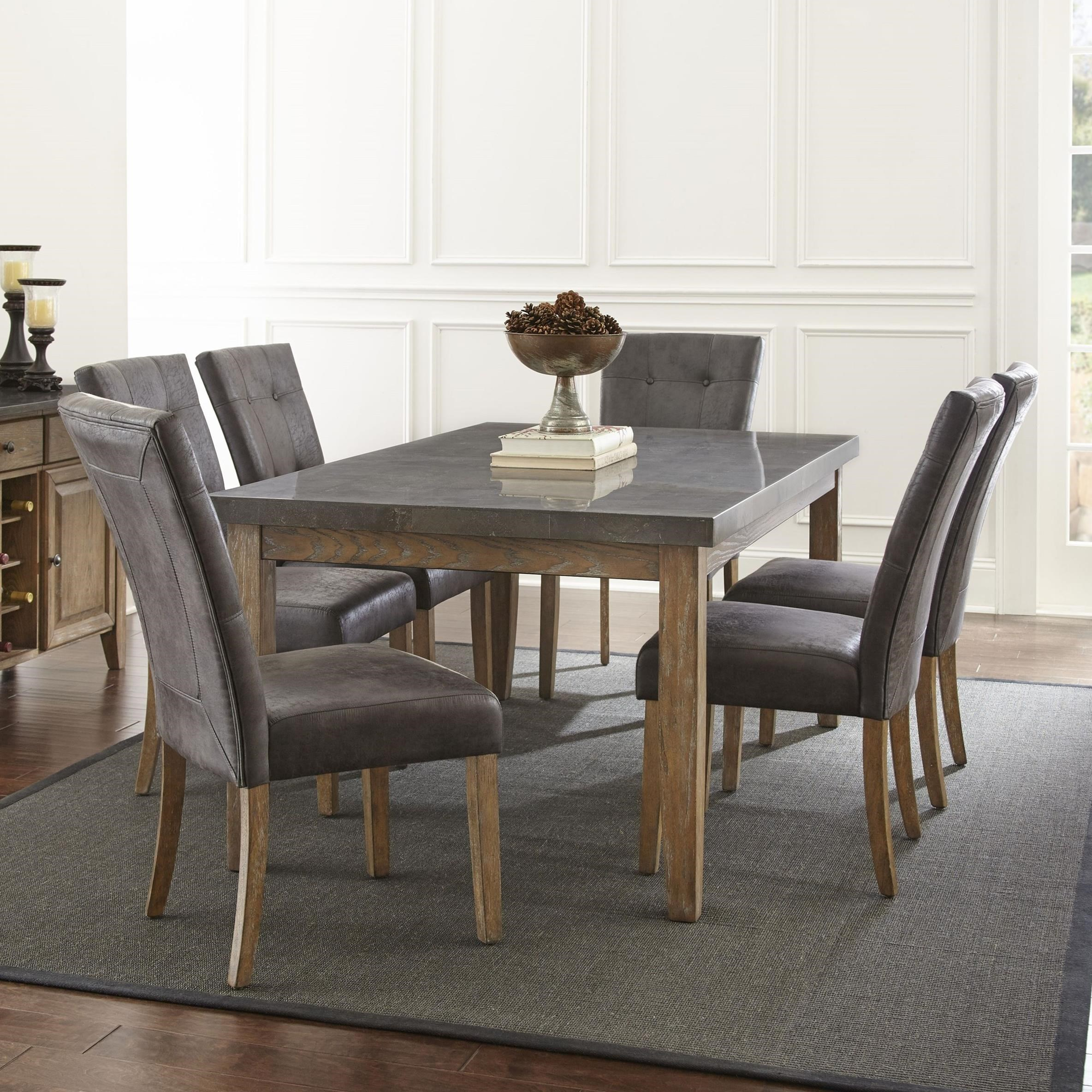 Inspiration about Debby Small Space 3 Piece Dining Sets With Fashionable Steve Silver Debby 7 Piece Transitional Table And Chair Set With (#19 of 20)