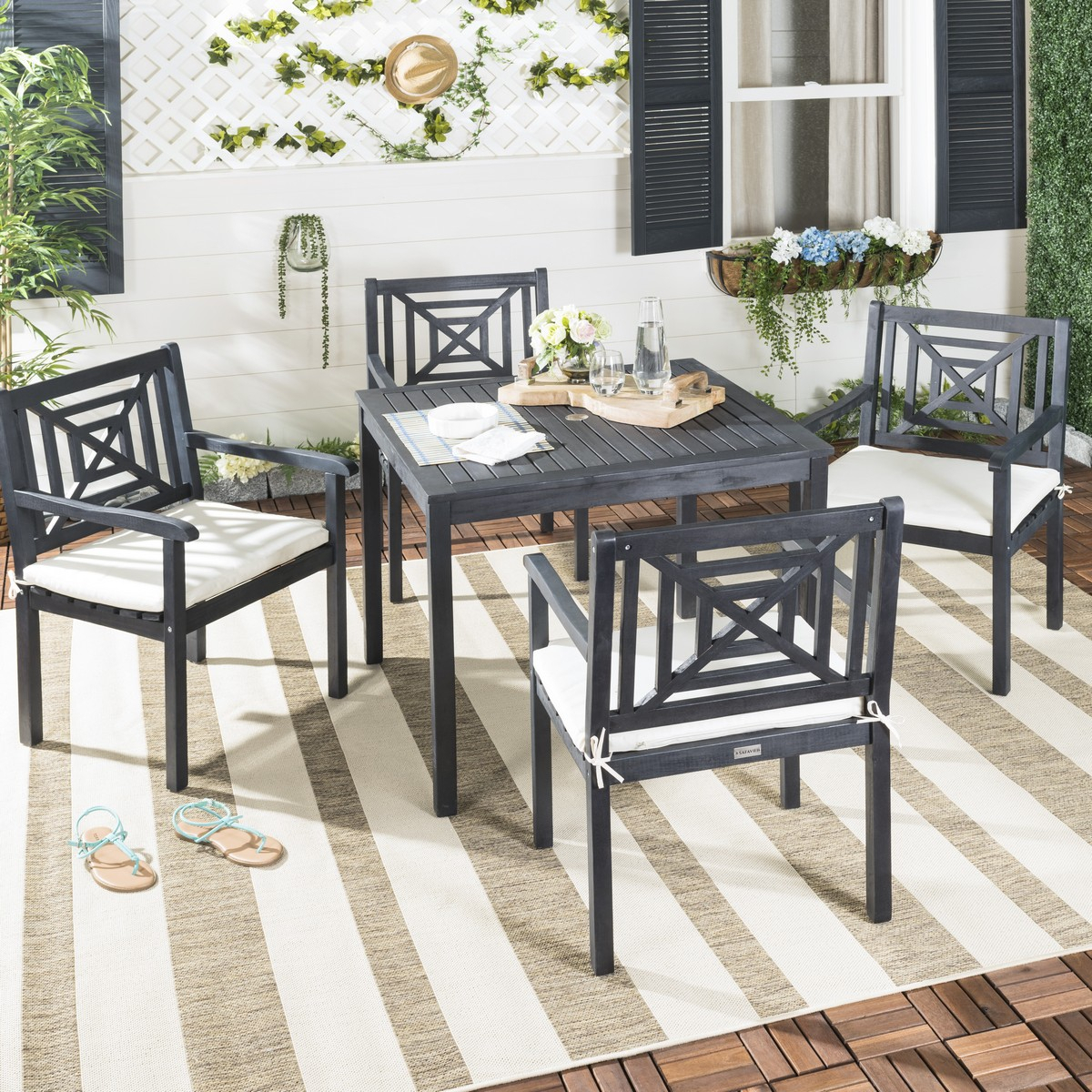 Delmar 5 Piece Dining Sets Pertaining To Well Known Pat6722k Patio Sets – 5 Piece Outdoor Dining Sets – Furniture (View 7 of 20)