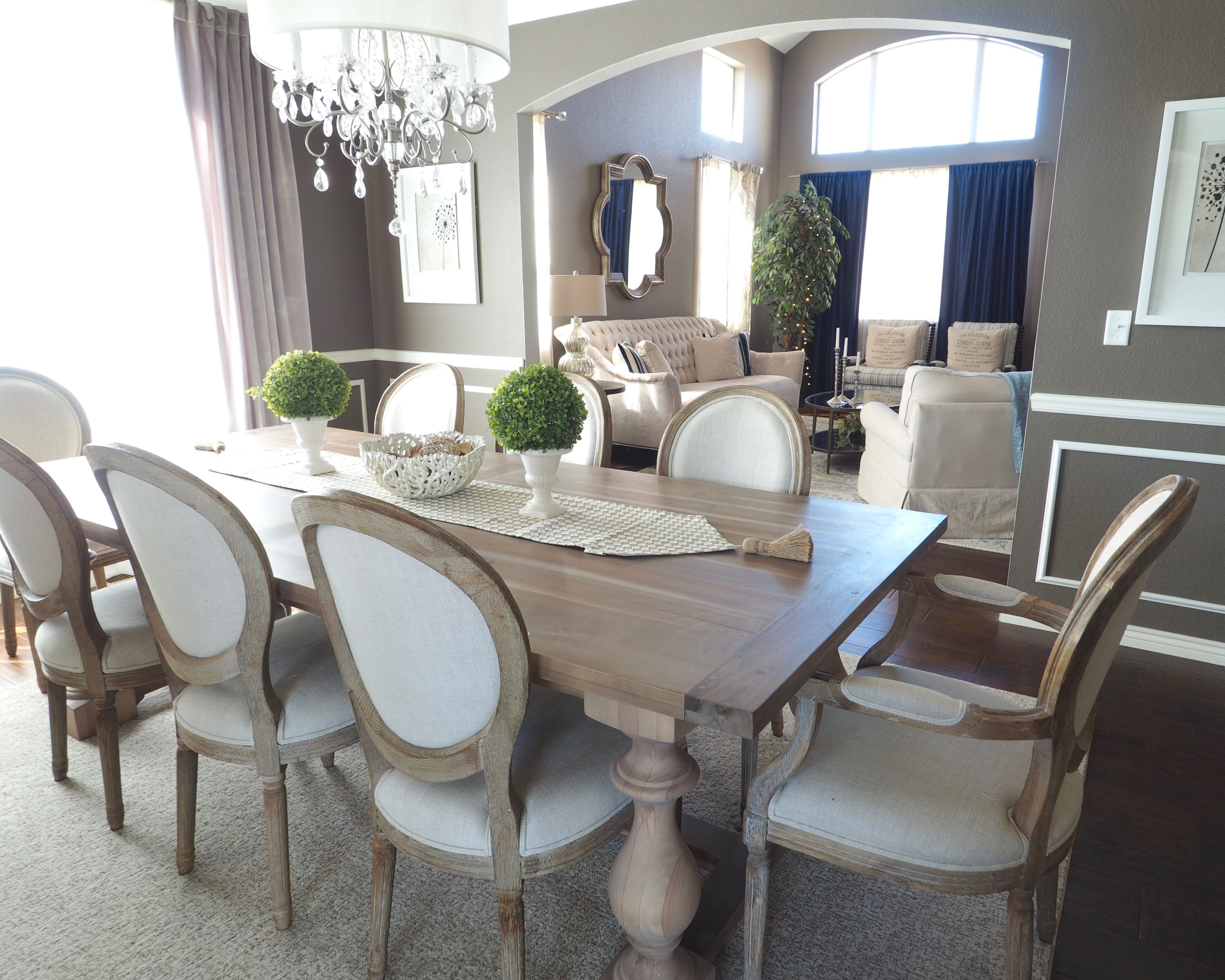 Inspiration about Dining Room – Round Back Dining Chair – Rustic Finish – Gray And Regarding Well Known Linette 5 Piece Dining Table Sets (#7 of 20)