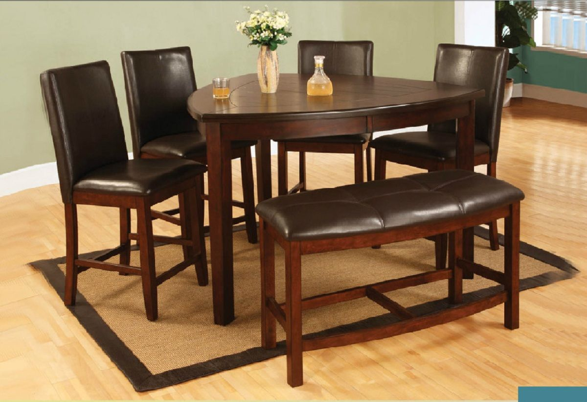 Dining Room Throughout Denzel 5 Piece Counter Height Breakfast Nook Dining Sets (#6 of 20)