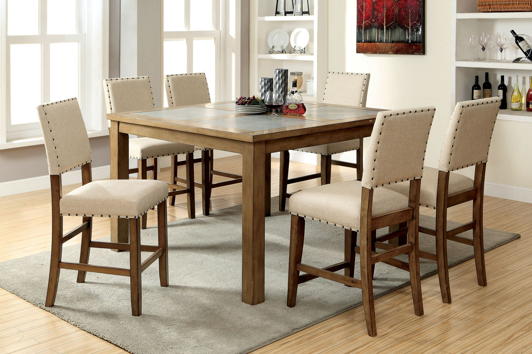 Dining Tables Crafton Counter Height Pub Dining Table March 2019 Pertaining To Well Known Castellanos Modern 5 Piece Counter Height Dining Sets (View 11 of 20)