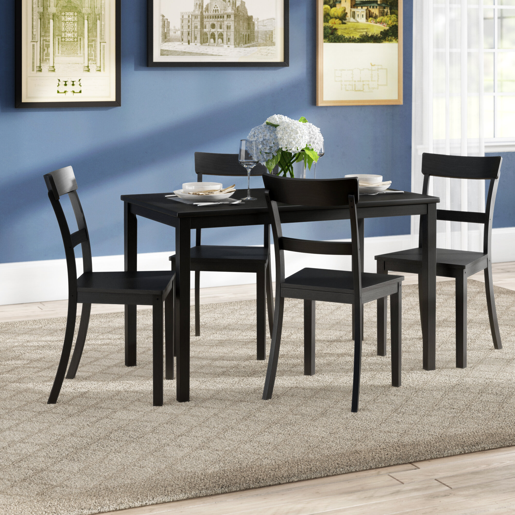 Popular Photo of Miskell 5 Piece Dining Sets