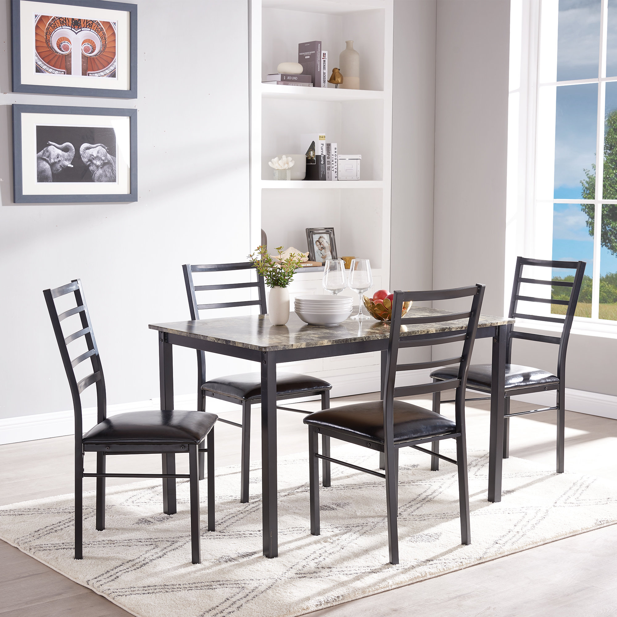 Ebay Pertaining To Recent Casiano 5 Piece Dining Sets (View 10 of 20)
