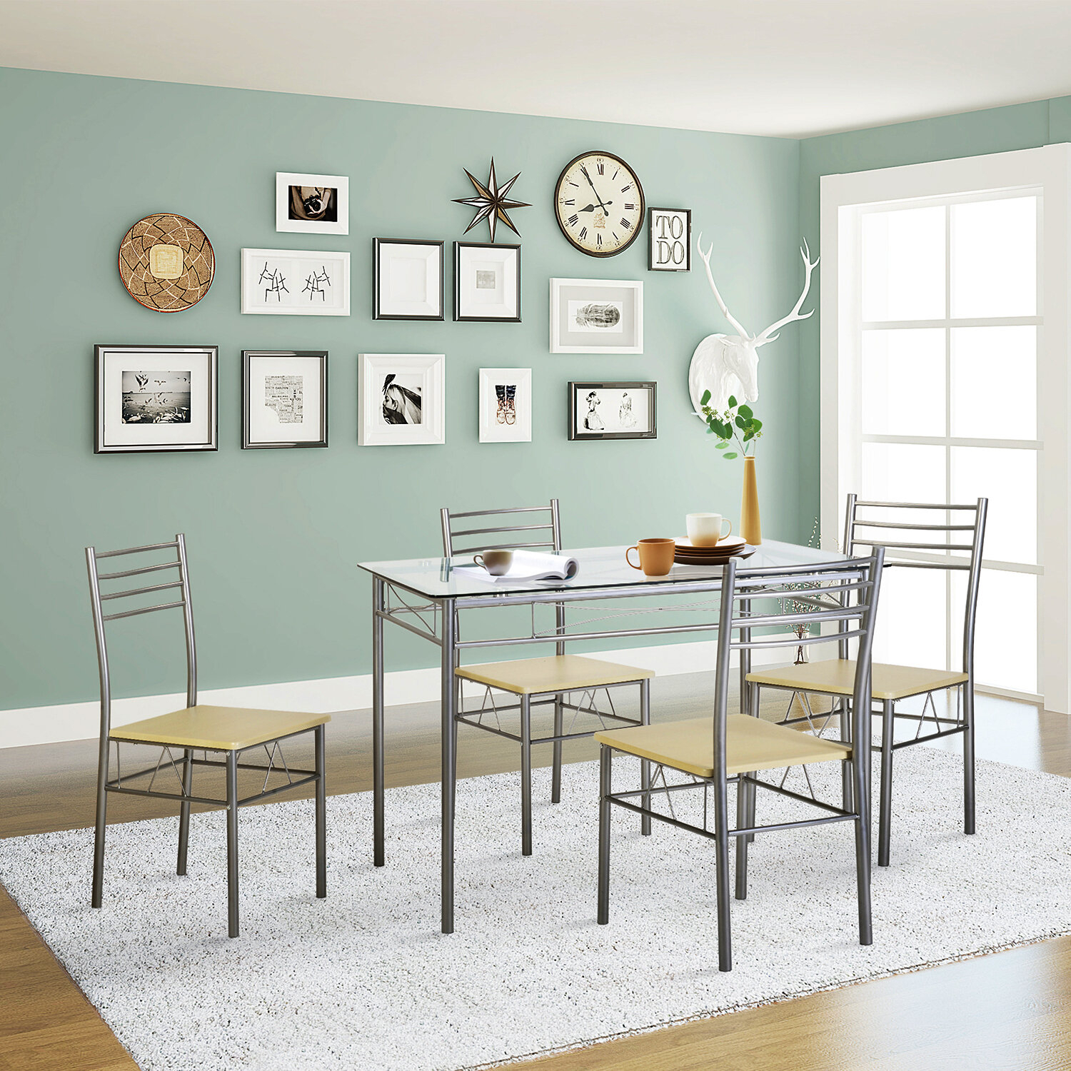 Ebay With Regard To 5 Piece Breakfast Nook Dining Sets (#3 of 20)