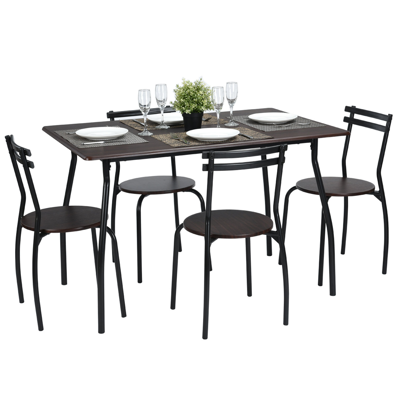 Ebern Designs Tarleton 5 Piece Dining Set (View 2 of 20)